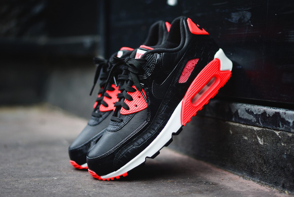 pretty nice f55be cbed4 Nike Nike Air Max 90 Anniversary Black Croc Infrared   Grailed