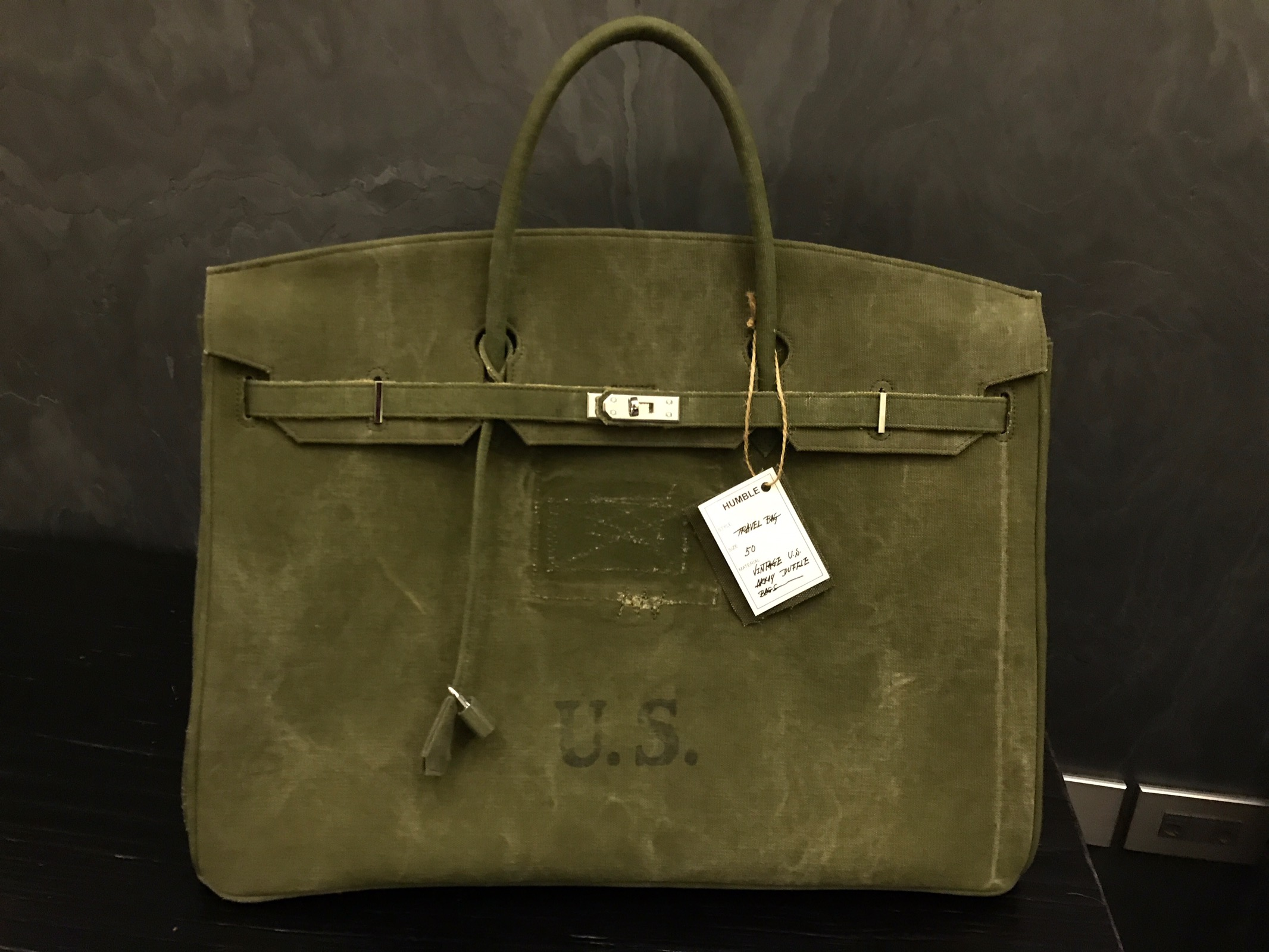 48b51cb40db Custom Custom Made Military Birkin Travel Bag