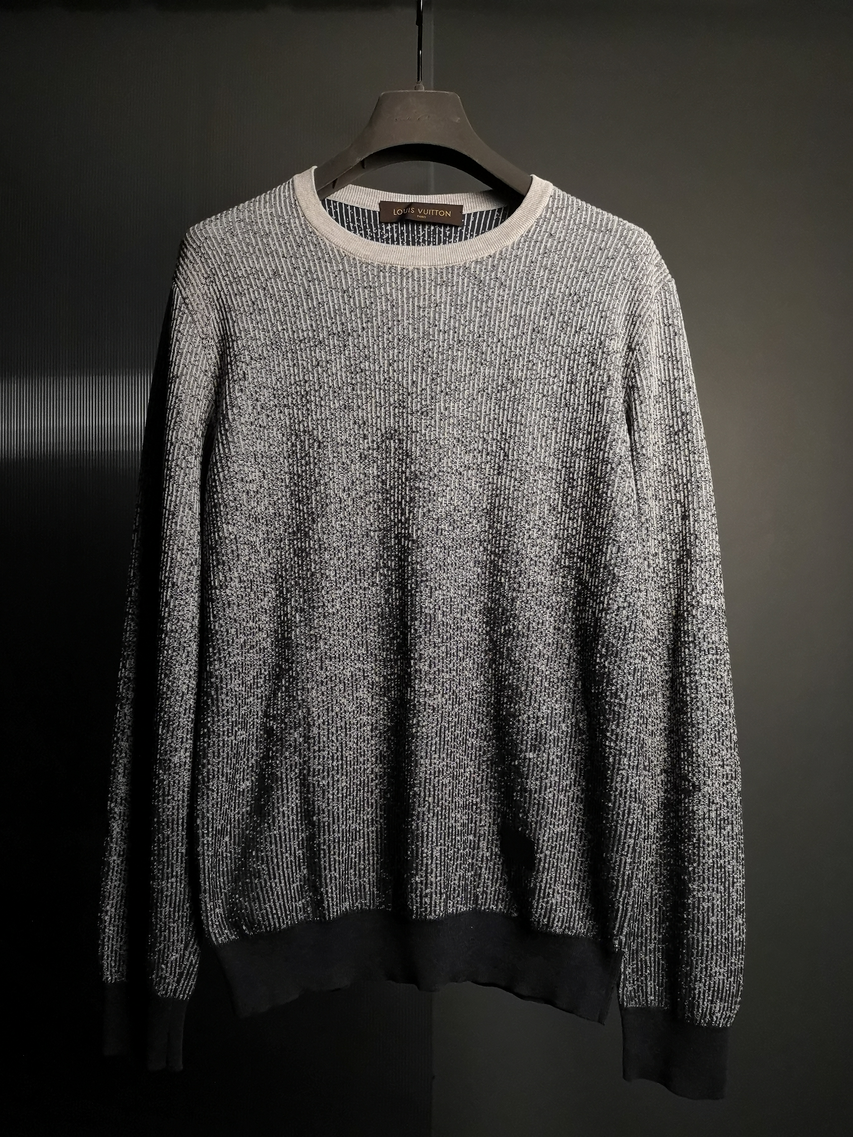 Louis Vuitton Lv Gradient Knitted Sweater Grailed