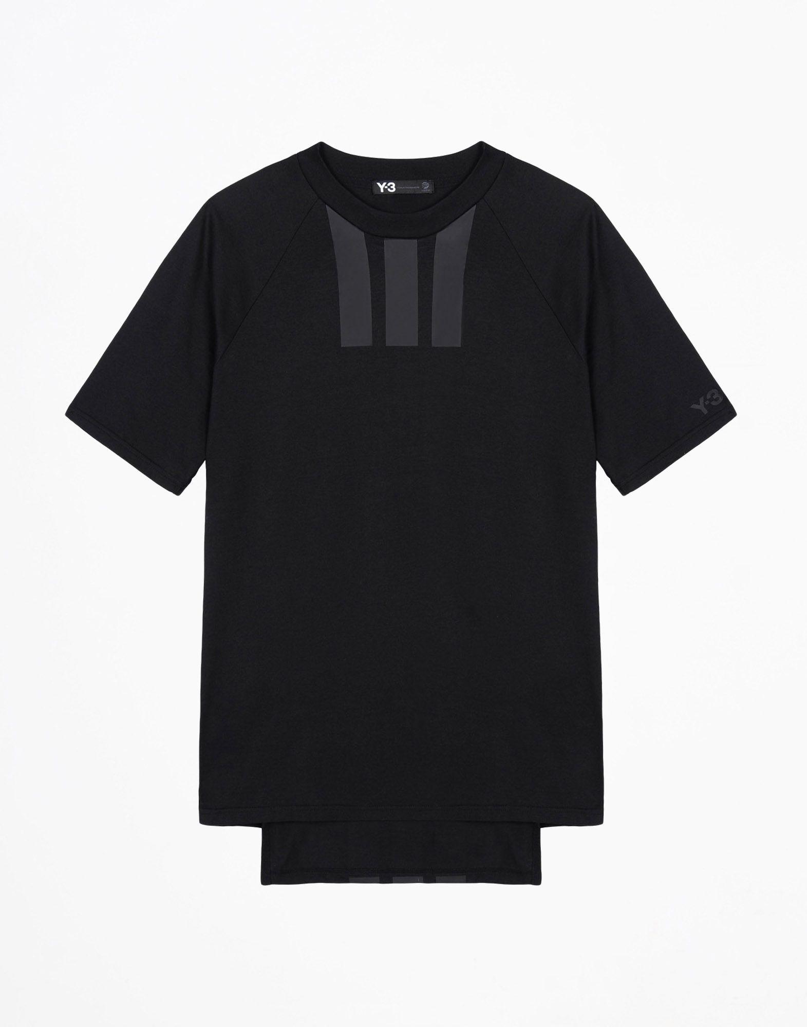 Yohji Adidas Stripes Short Tee T Y Yamamoto 3 Sleeve Y3 Black aPBwYq
