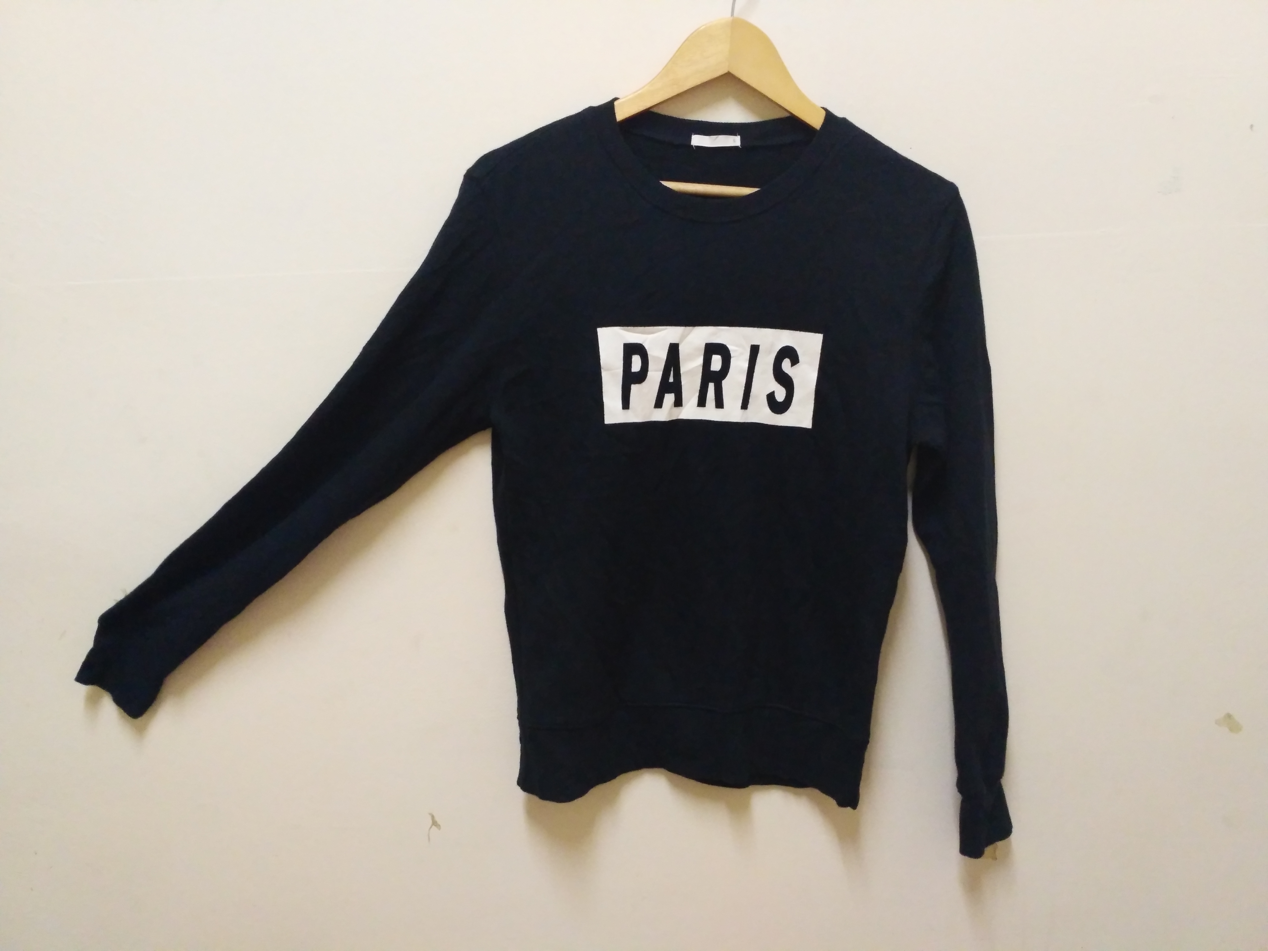 b1d71c8a6dad Paris Box sweatshirt pullover big logo vintage hip hop