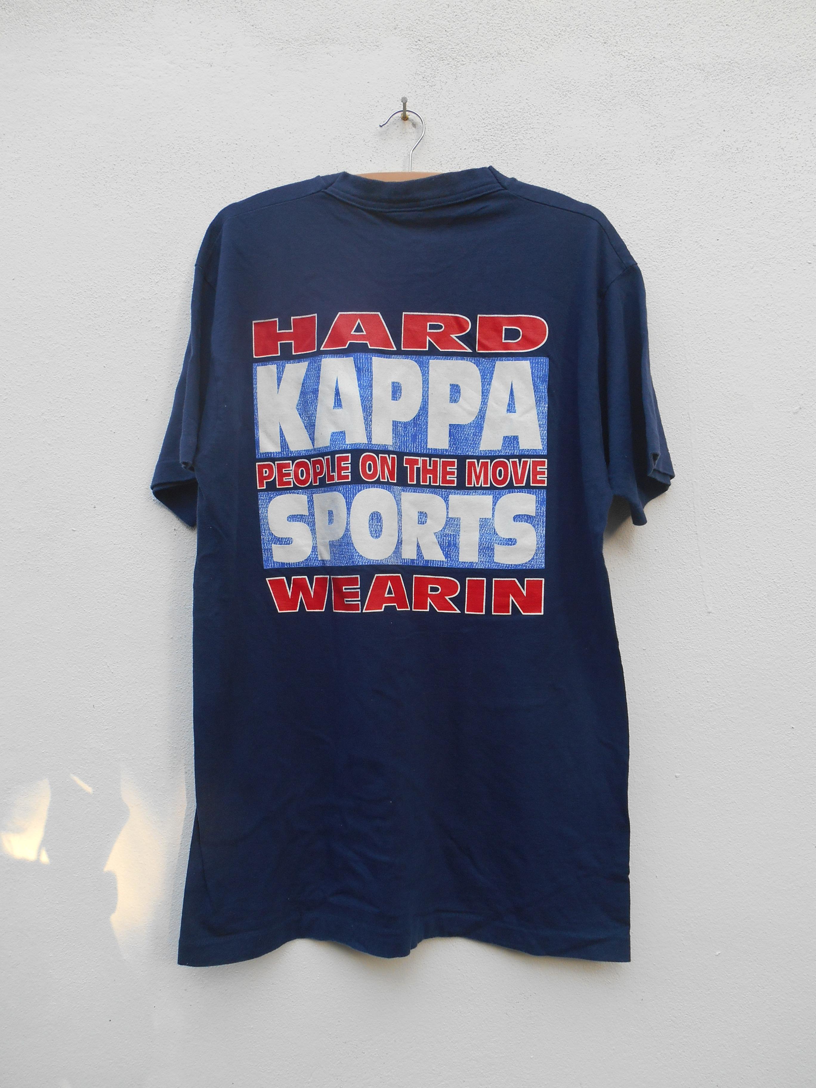5c4a20a7dd Kappa Kappa Big Logo Vintage 90s Kappa T Shirt Blue Black Kappa Logo ...