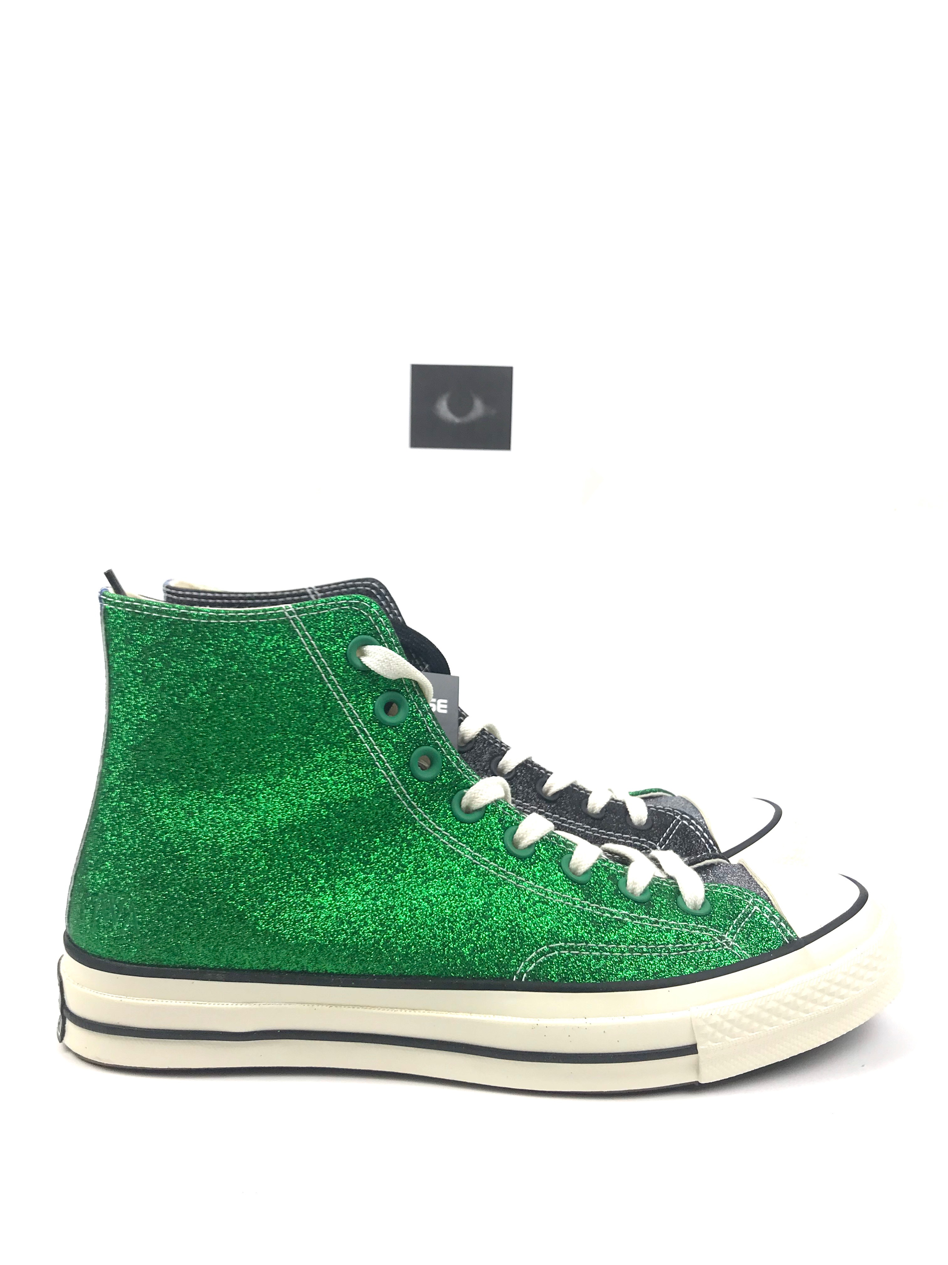 Converse × J.W.Anderson. JW Anderson x Converse Chuck Taylor All-Star 70s Hi  GLITTER- Green Black 189d7a533
