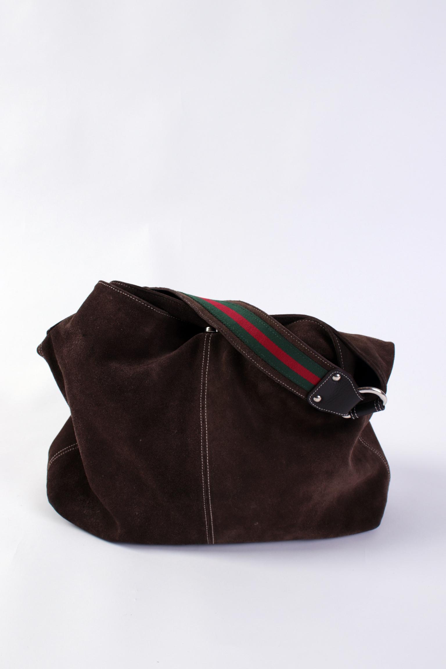 d7da7dfdca97 Gucci Suede Handbag – Hanna Oaks