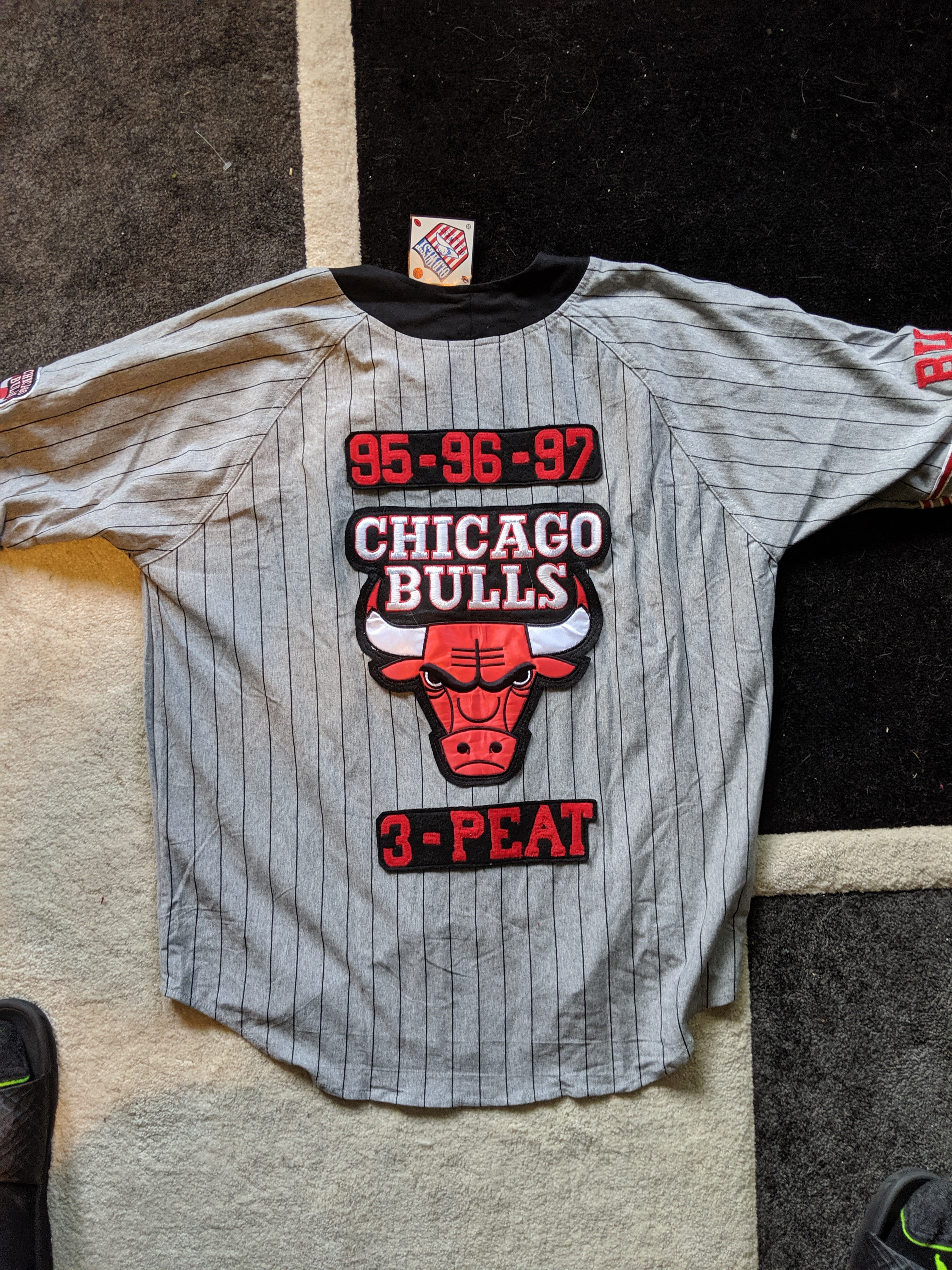 reputable site 02381 34e22 Vintage Chicago Bulls Jordan 45 Deadstock Baseball Jersey