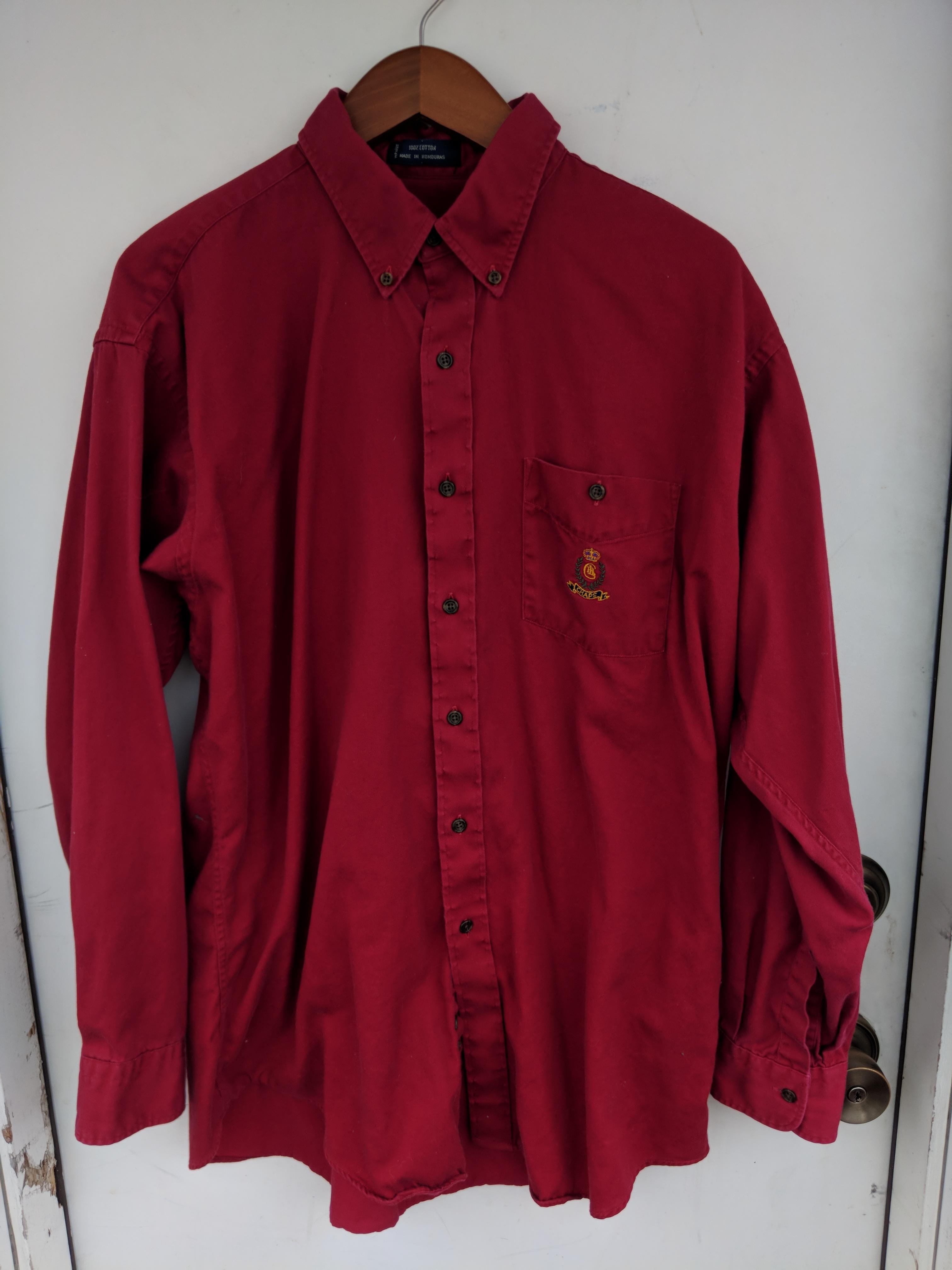 9696e1f9f85927 Chaps Ralph Lauren Vintage Chaps X Ralph Lauren Red Button Up | Grailed