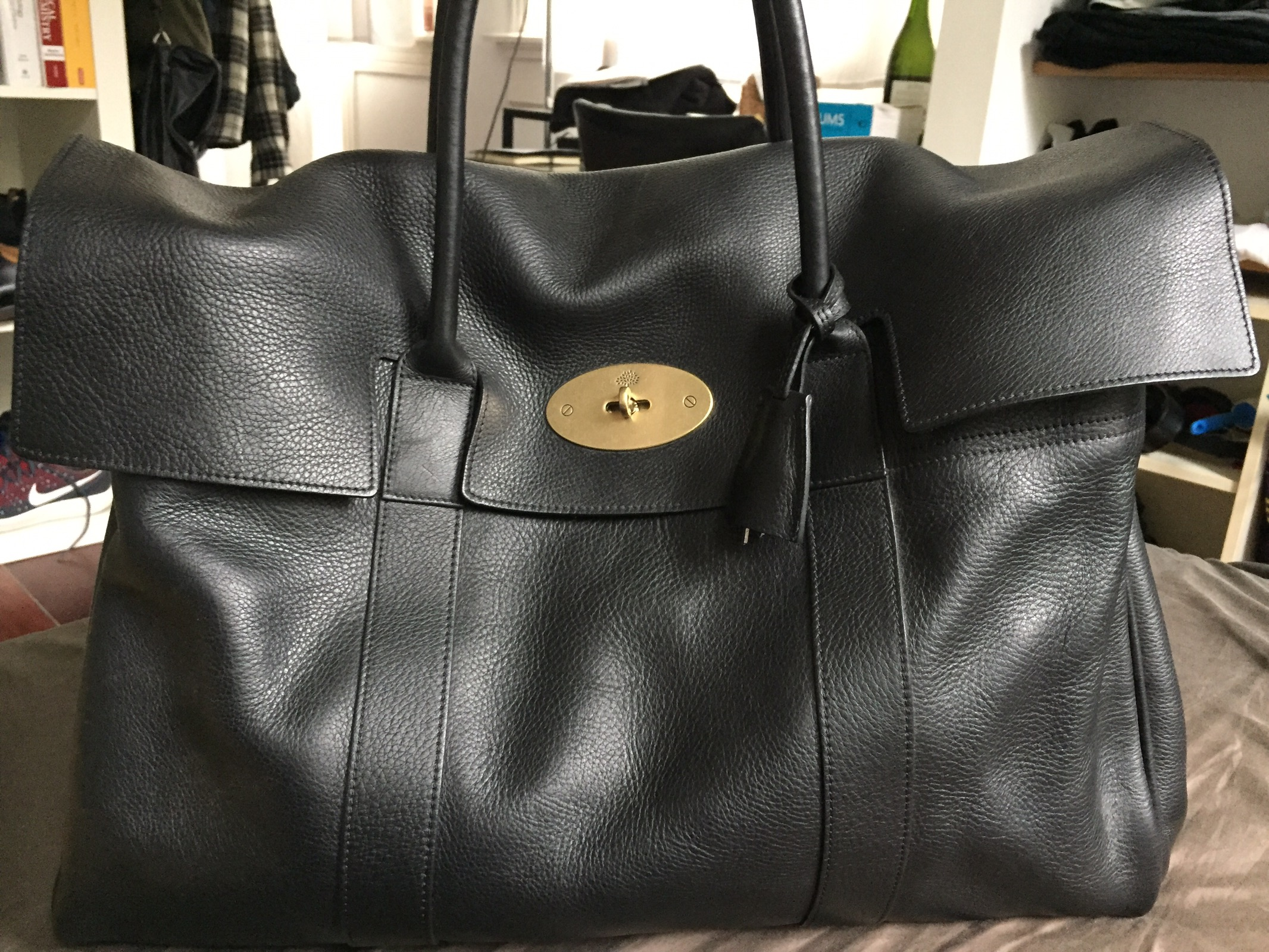 66deb07d9cd Mulberry *last Drop* Mulberry Piccadilly Weekend Bag Black Leather ...