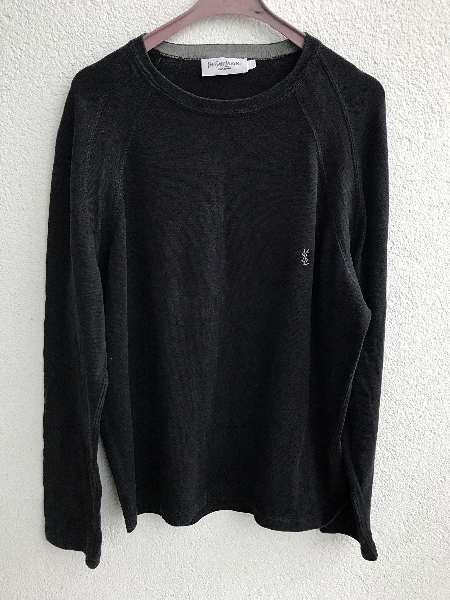 36474777 YSL logo black longsleeve