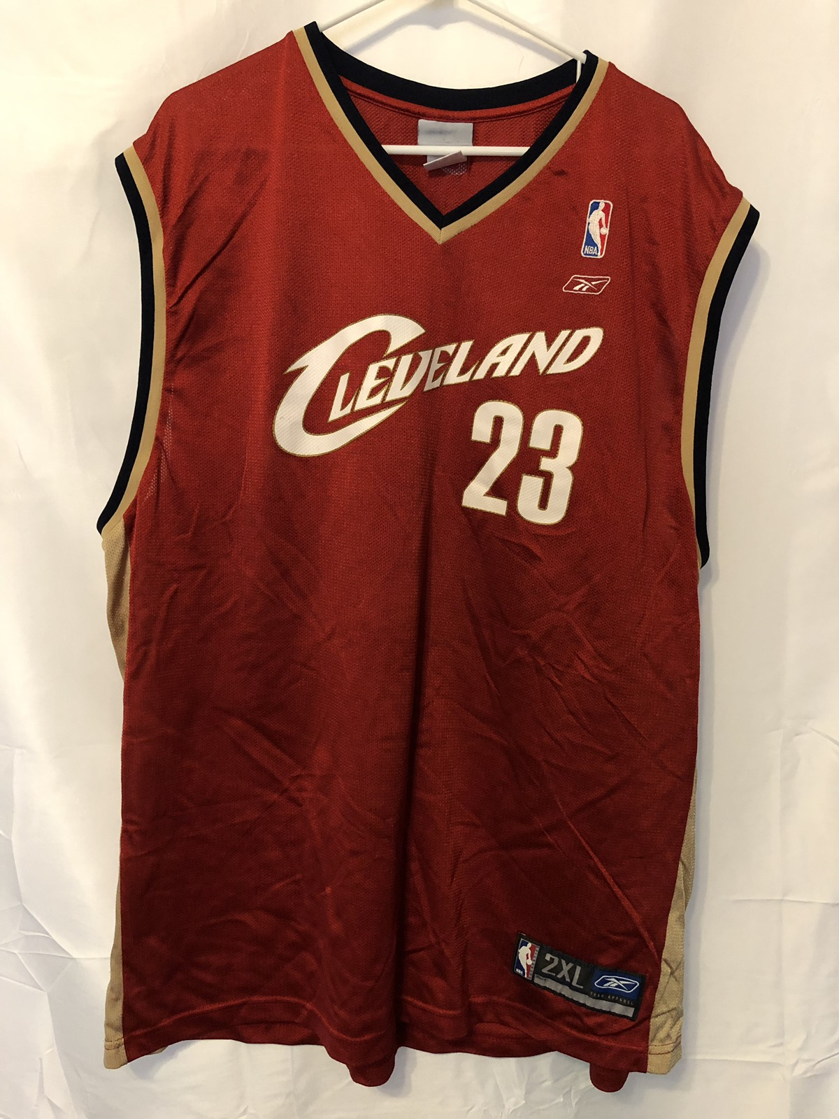 purchase cheap e71b7 40902 Cleveland Cavaliers Lebron James #23 Jersey Reebok 2X