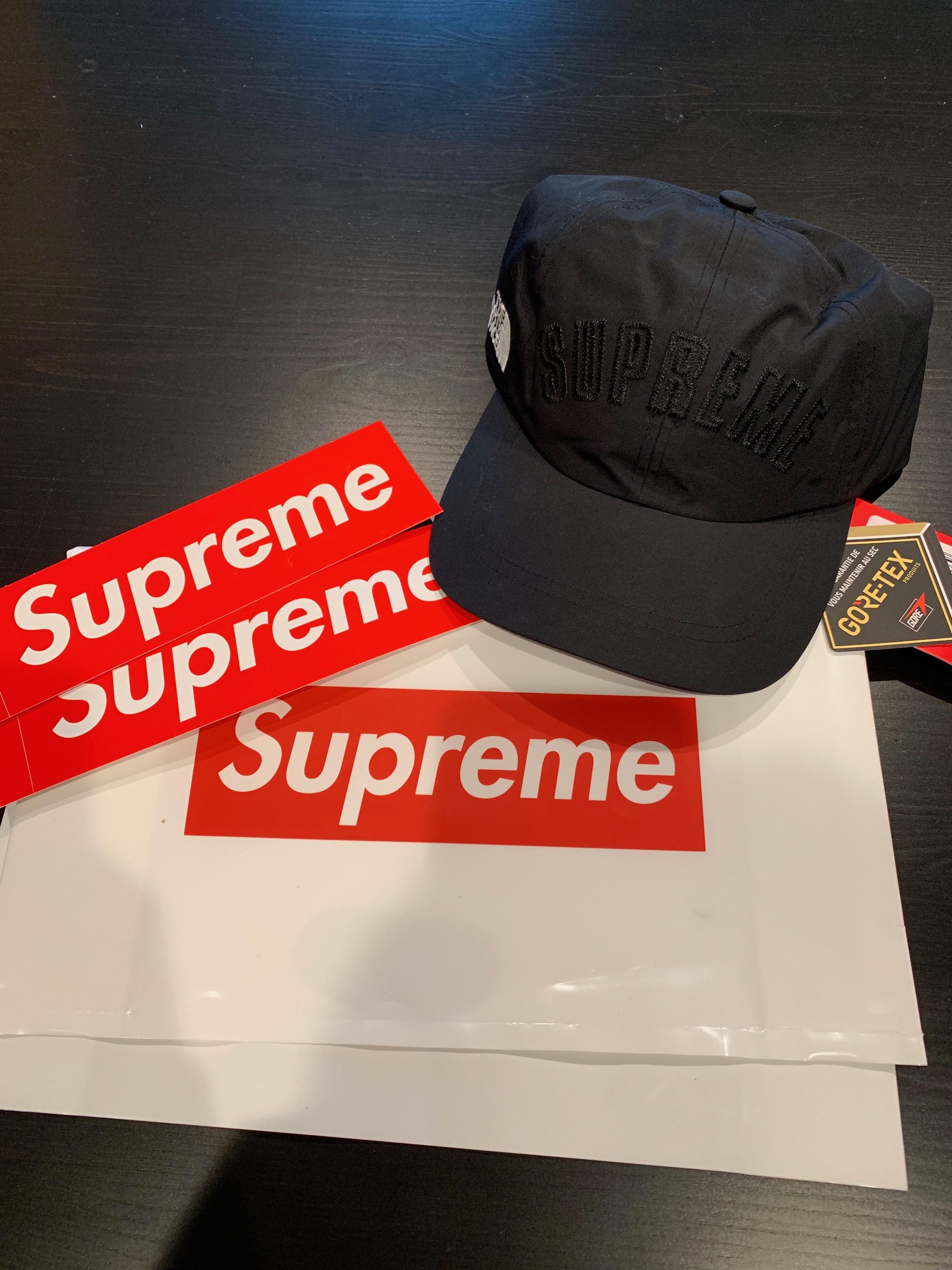 cc8b082f6 Supreme x TNF Arc Logo 6-Panel Hat (Black)