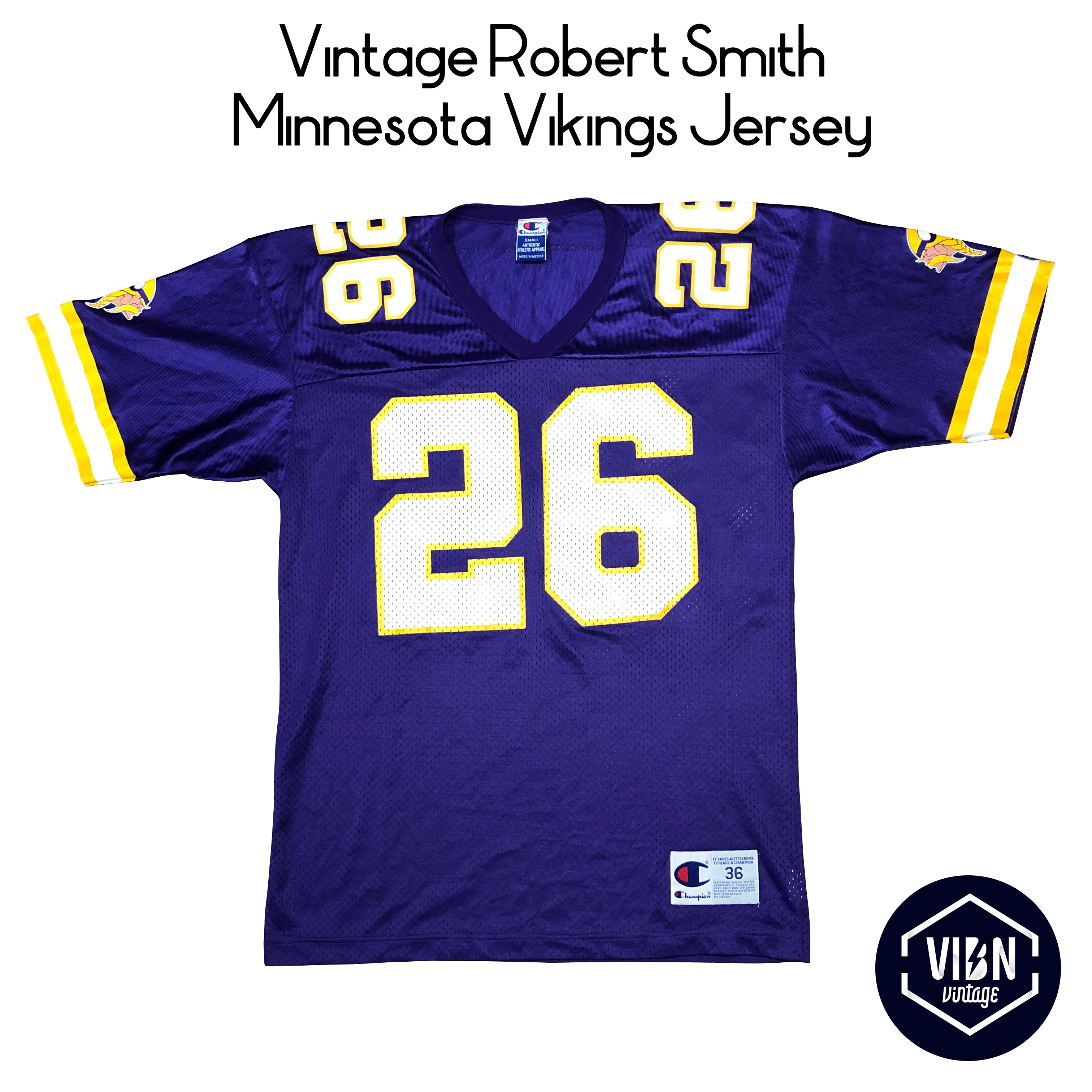 on sale a8051 a2e04 Vintage Robert Smith Minnesota Vikings Jersey