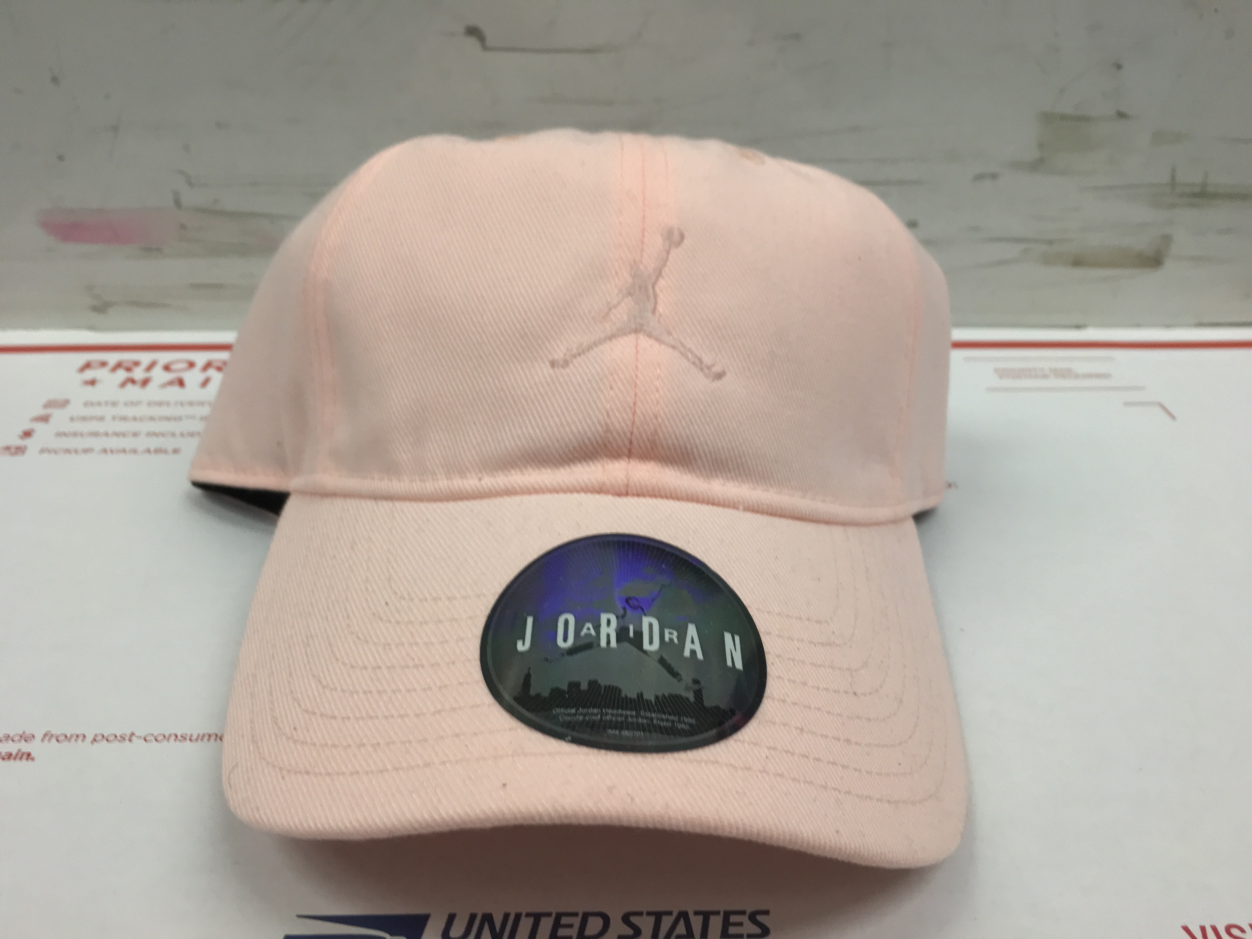 73d33e455 AIR JORDAN JUMPMAN DAD HAT CAP PINK