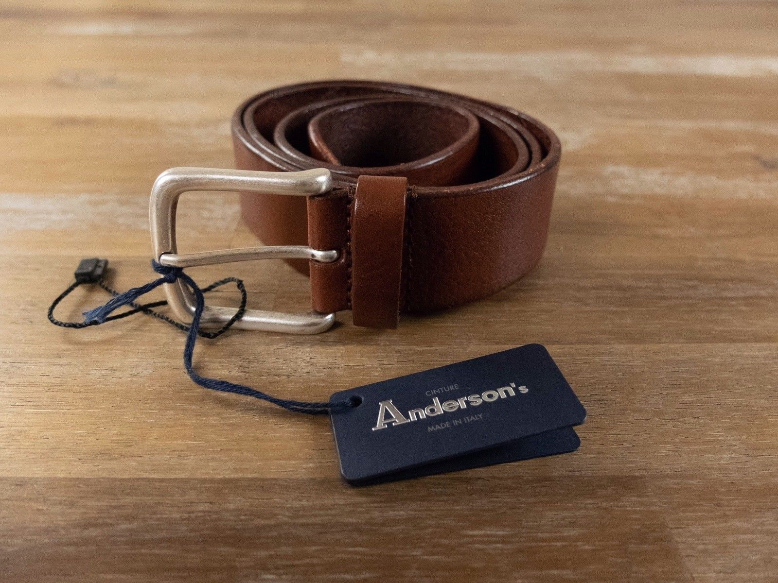 foto ufficiali 64e6a f0da4 ANDERSON'S Andersons tobacco brown leather belt authentic - Size 95 (fits  size 36 waist best) - NWT