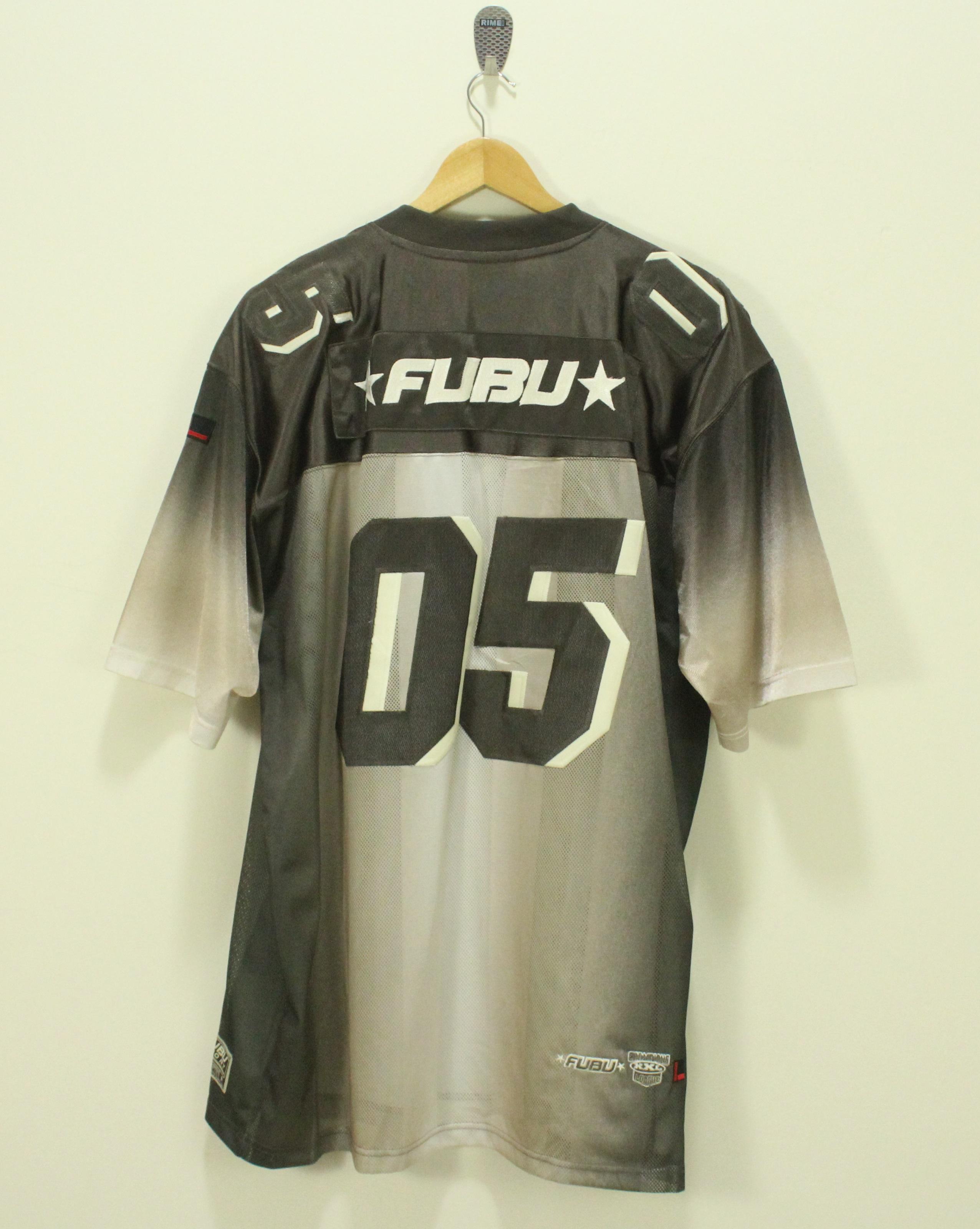 Fubu FUBU T Shirt Jersey 05 Mesh Striped Hip Hop Swag Jay Z