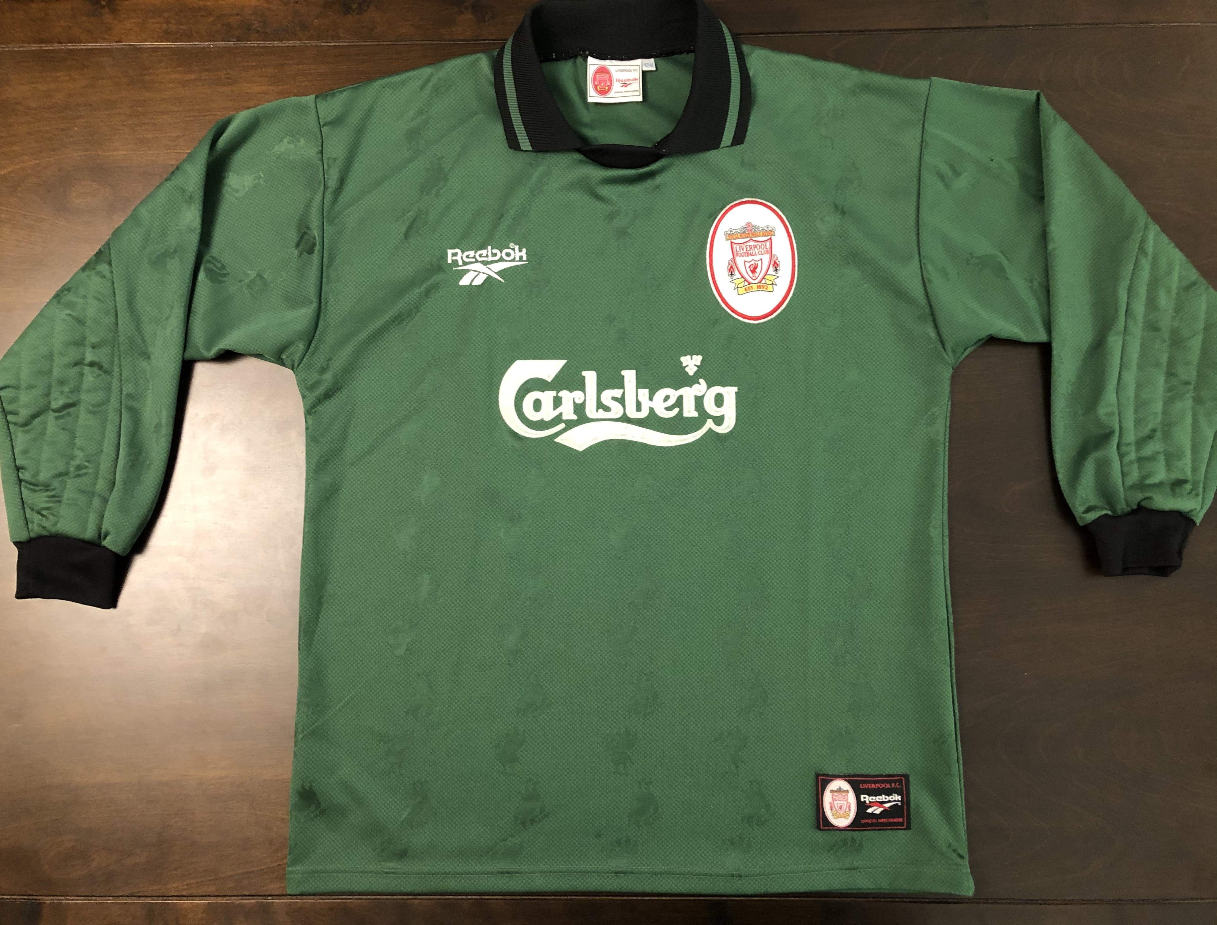 Vintage 1996 1998 Rare Liverpool Long Sleeve Goalkeeper Jersey L Grailed