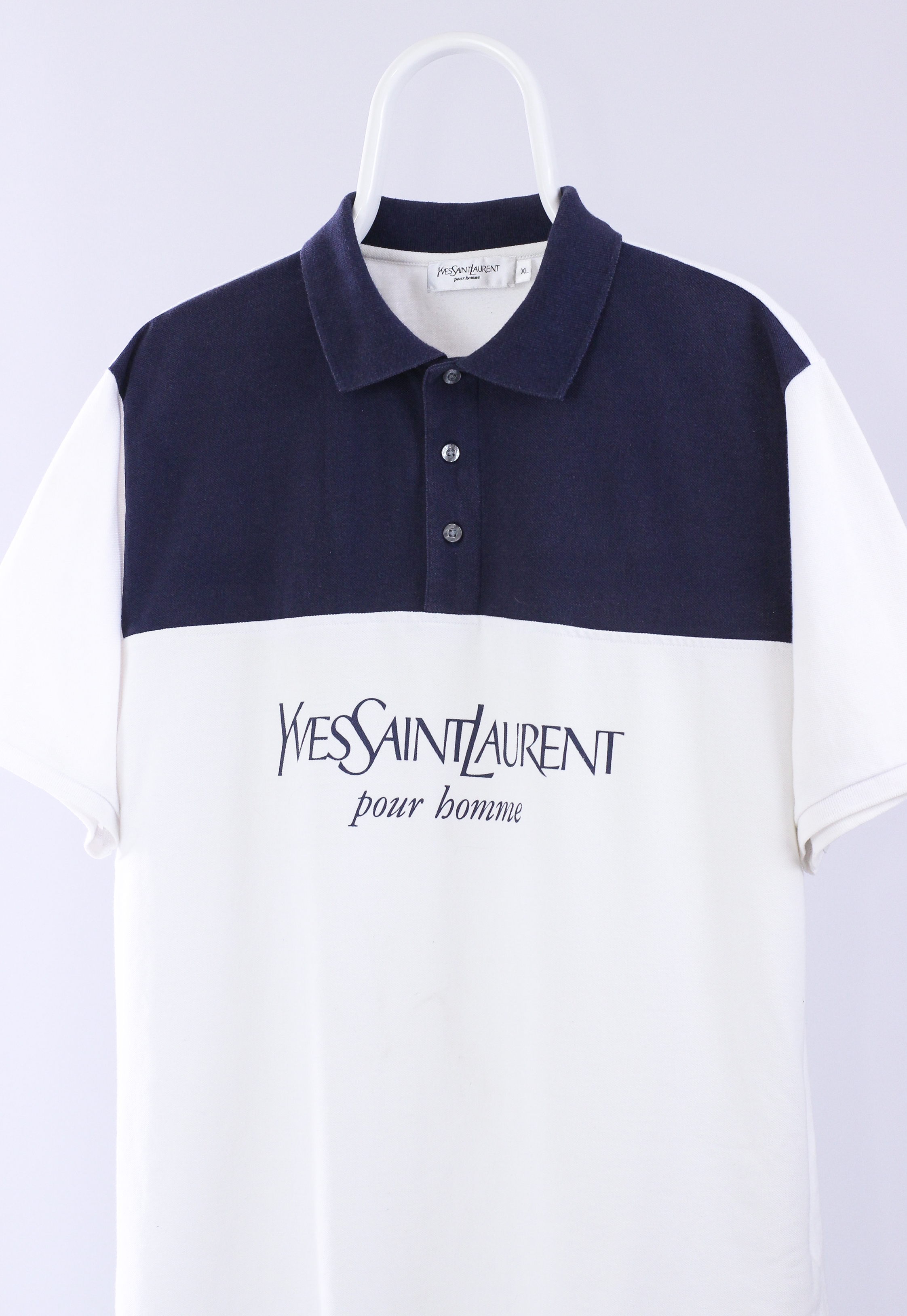 0f877827f78 Vintage × Ysl Pour Homme × Yves Saint Laurent ×. Vintage Mens YSL Yves  Saint Laurent Big Logo Polo Shirt