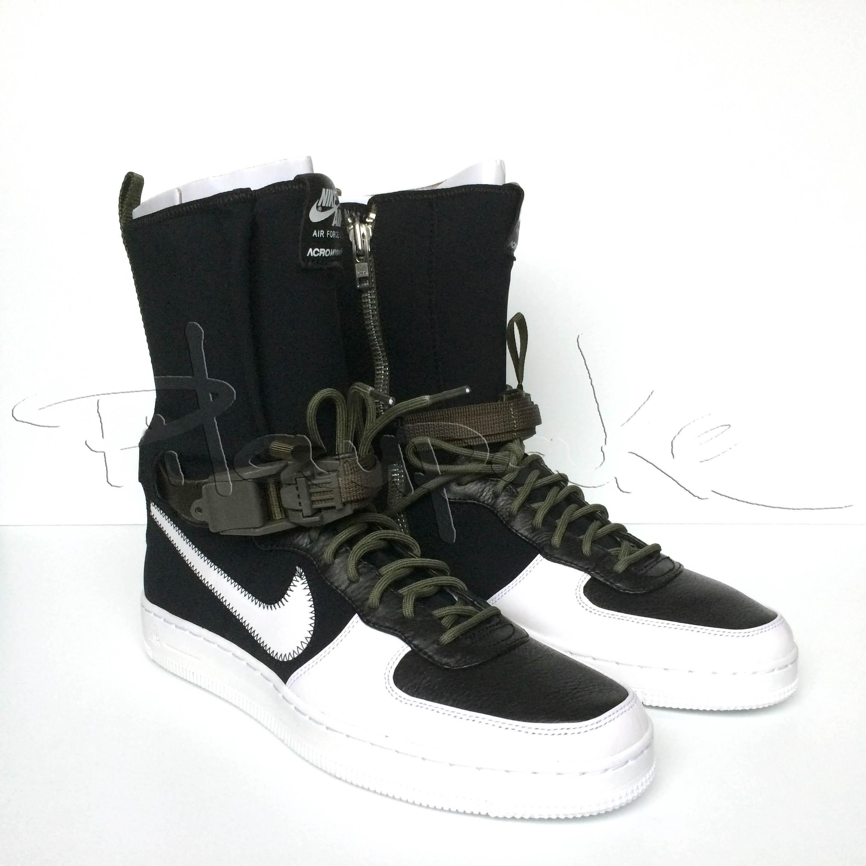 size 40 3524e 7773f Nike × Acronym × Errolson Hugh. Nike NikeLab x Acronym Air Force 1 Downtown  Hi SP black whitemedium olive US 10 UK 9