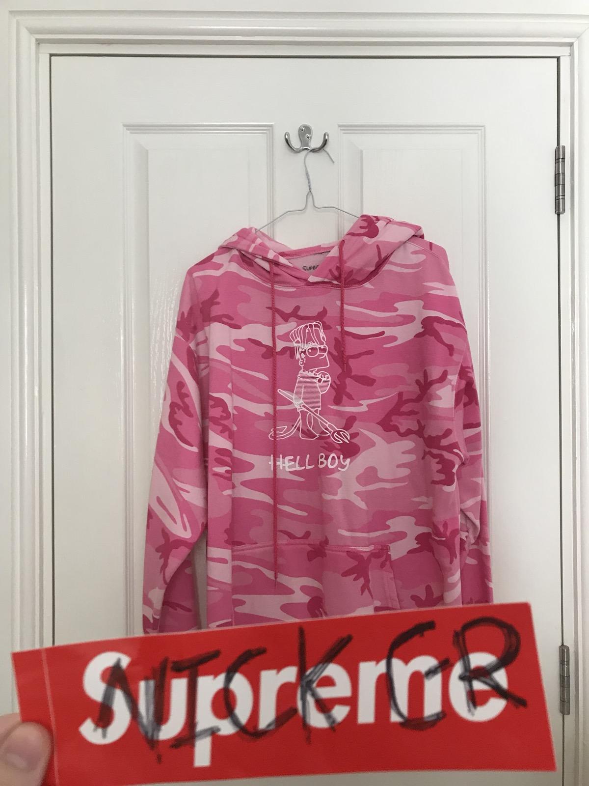 4f6f5e94 Superrradical × LIL PEEP. Lil Peep Superrradical Hellboy Pink Camo Hoodie.  Size: US L / EU 52-54 ...