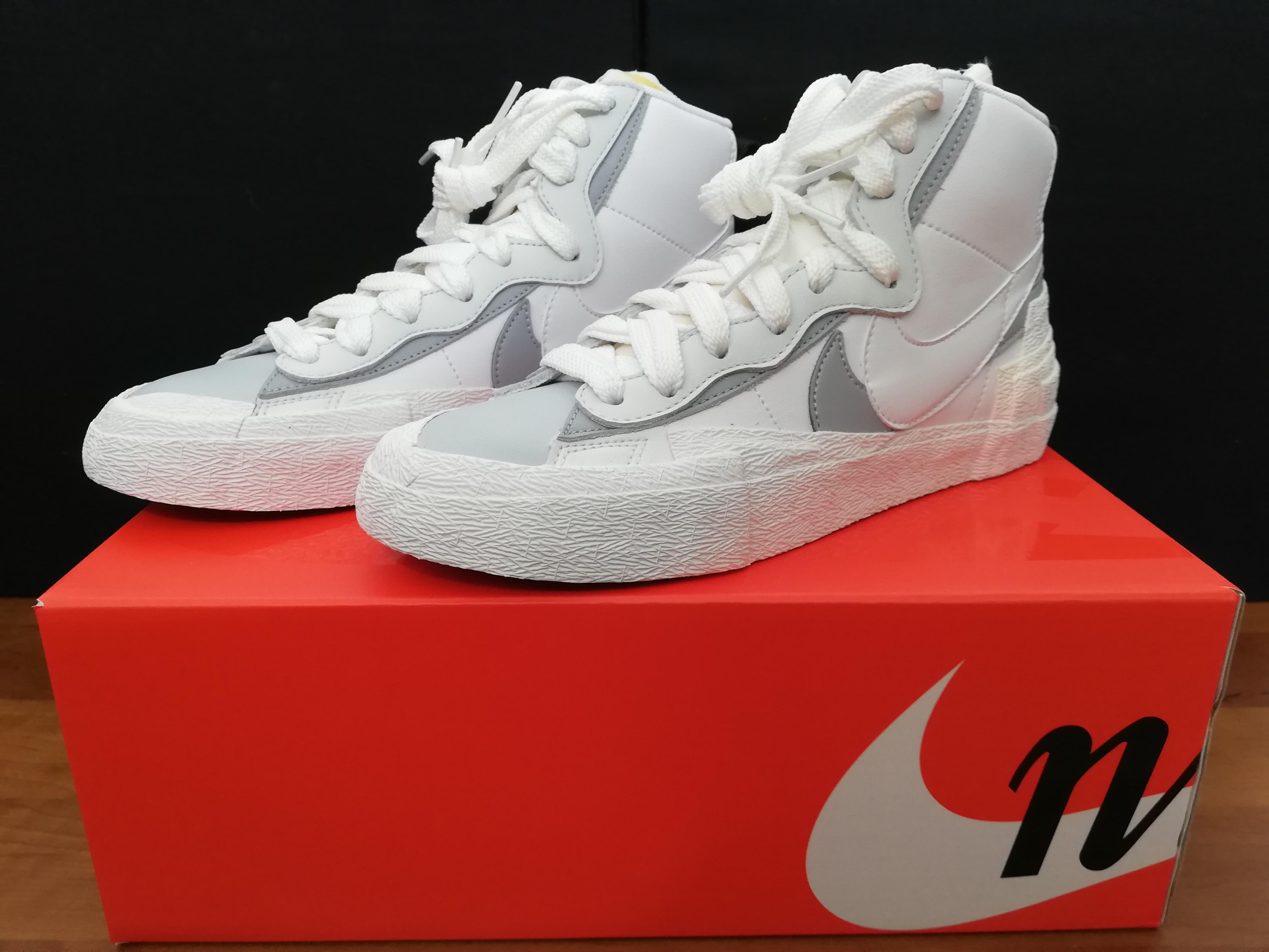 Diplomático Cuña sábado  Nike Nike X Sacai Blazer Mid White Wolf Grey | Grailed