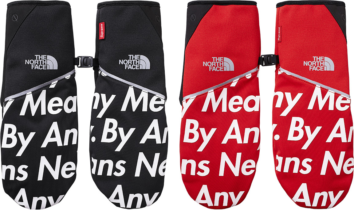 Supreme X The North Face By Any Means Winter Runners Gloves Red Tnf Medium Grailed