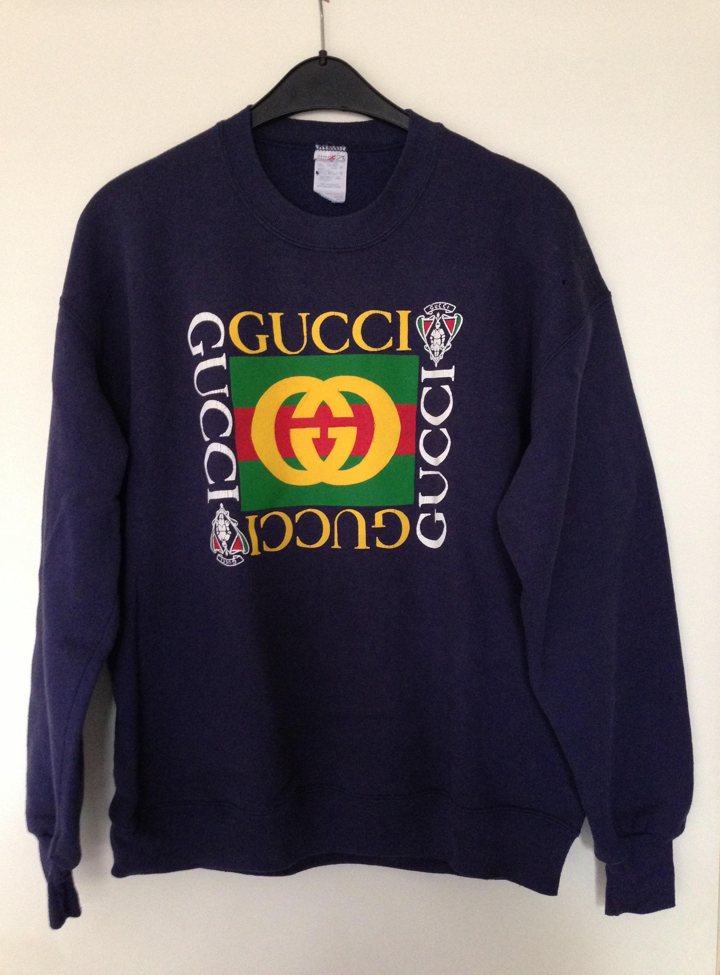 c96e8a1cf19a Gucci Vintage Bootleg Gucci Sweatshirt | Grailed