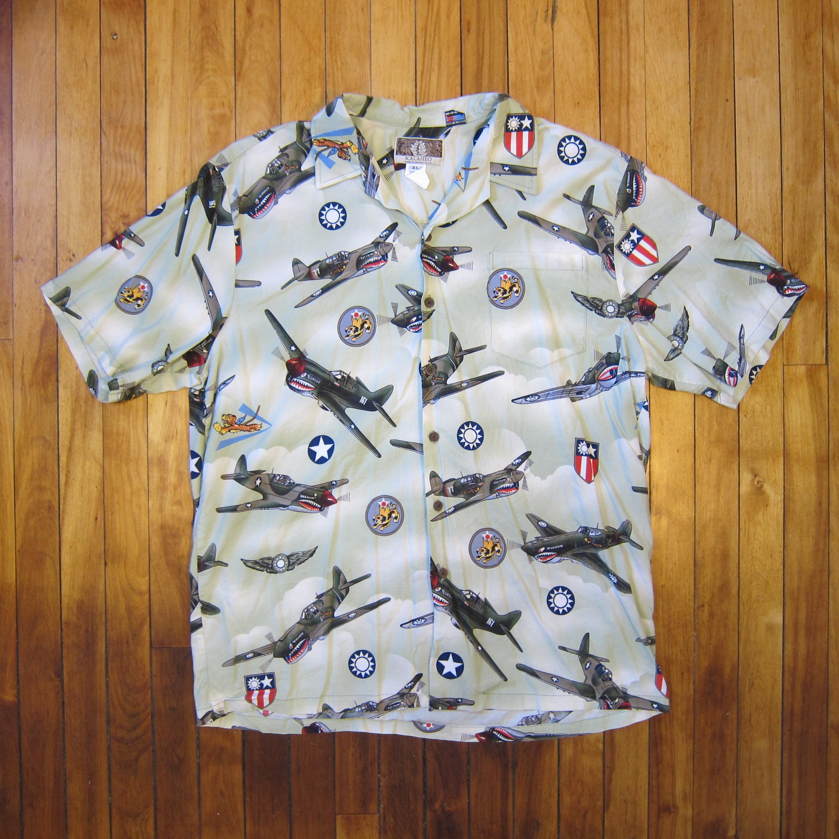 e60362fb Kalaheo Wwii Bomber Short Sleeve Hawaiian Shirt | Grailed