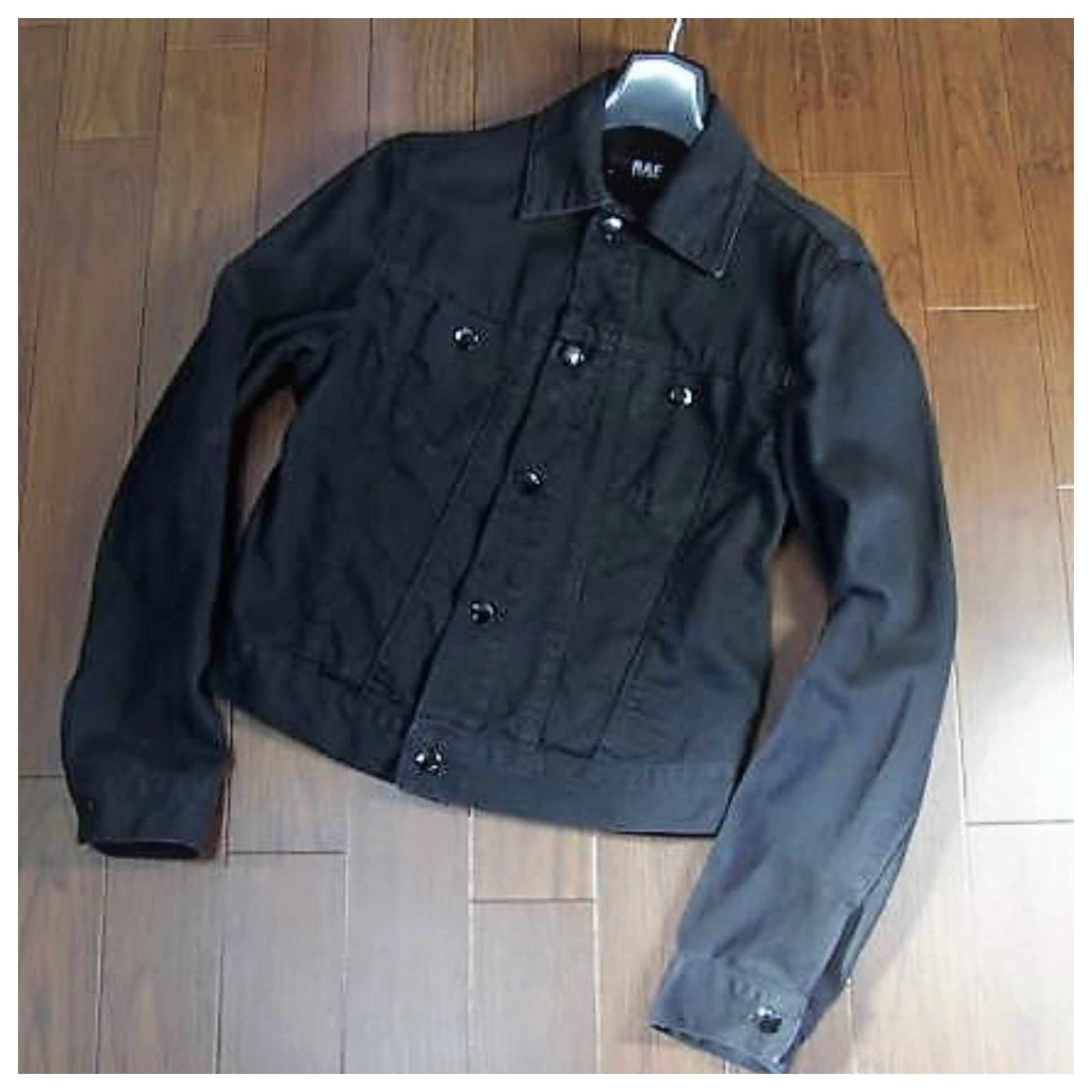 c6ea353b784 Raf Simons ×. Raf by Raf Simons Black Denim Jacket