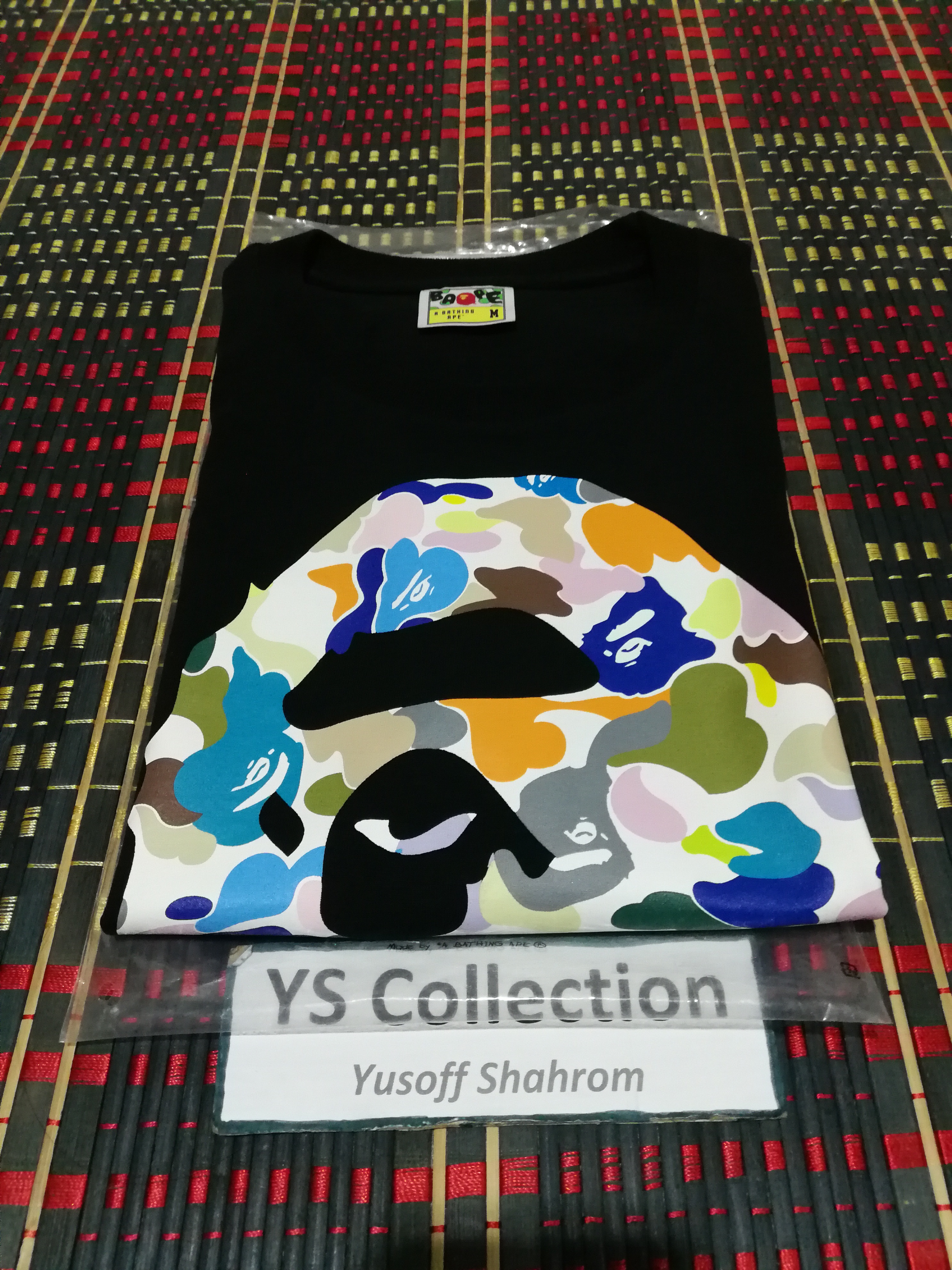 27bd30f7 Bape Bape Big Ape Head Multi Color Camo Tee | Grailed