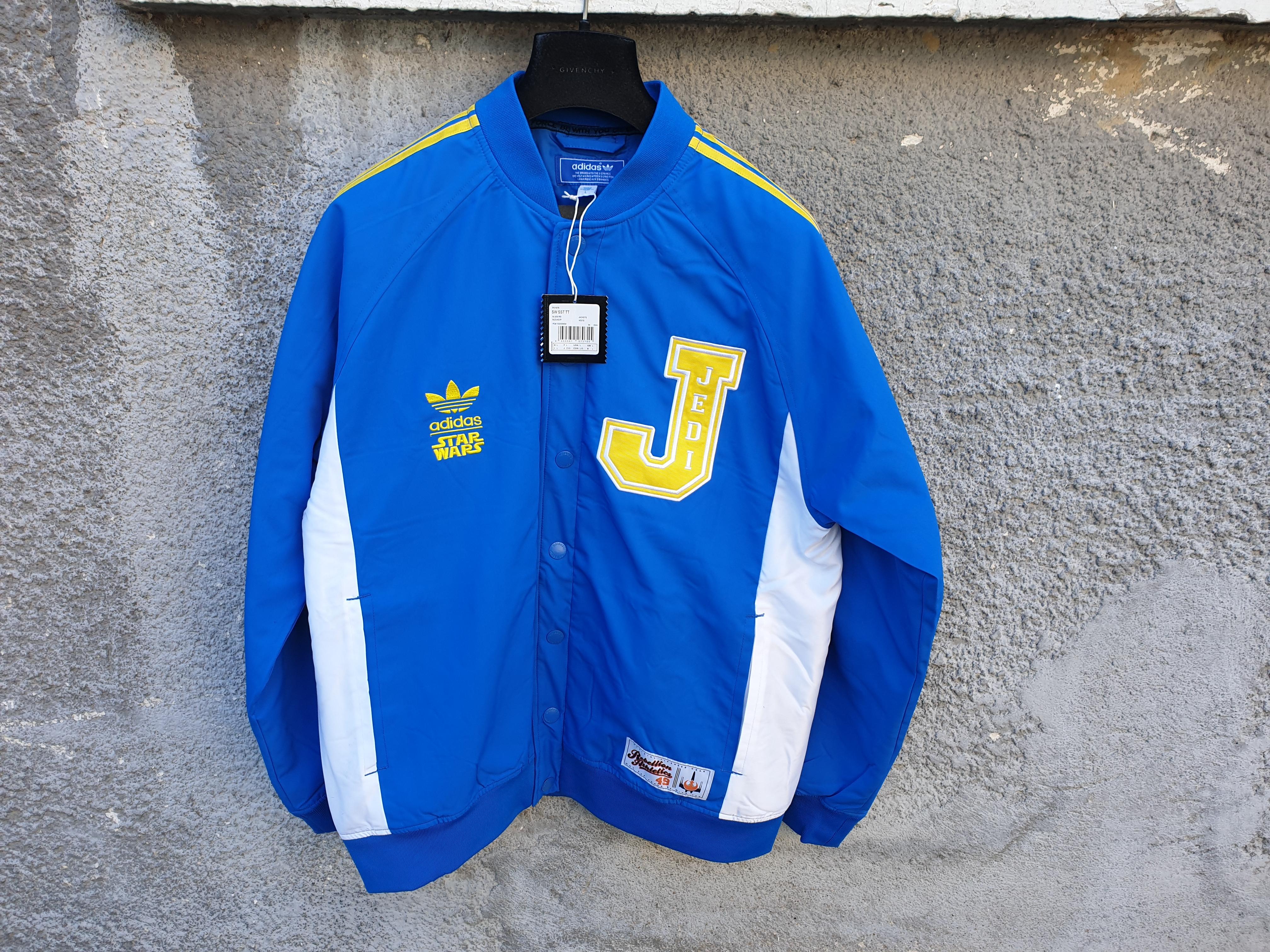sección Pescador cerca  Adidas Adidas Originals Star Wars Blue Jedi Varsity P01676 Jacket | Grailed