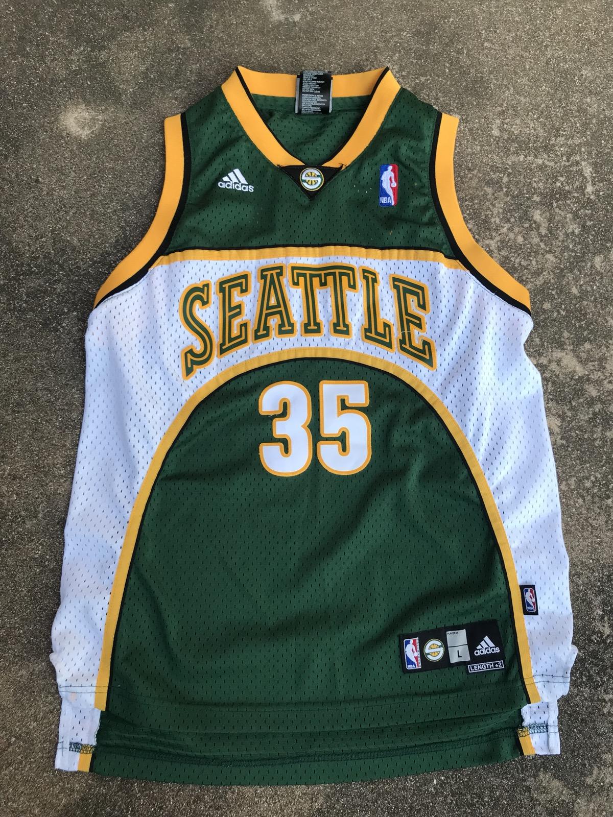 c4946da09 Adidas Vintage Kevin Durant Seattle Supersonics Jersey