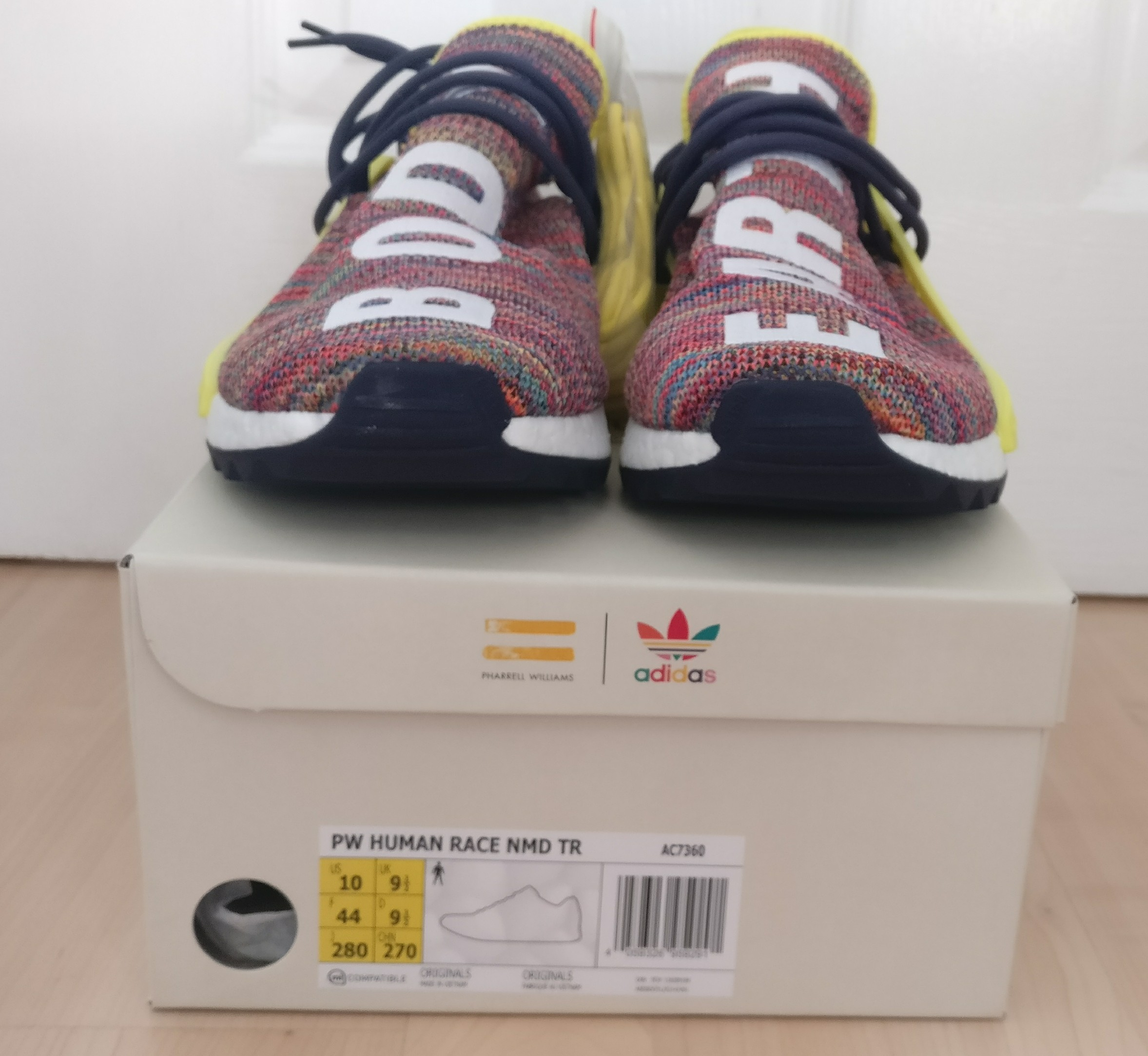 2043bda7fb2c6 Adidas Pharrell Williams x adidas NMD Hu Trail Multi UK 9 1 2 Size 10 - Low-Top  Sneakers for Sale - Grailed