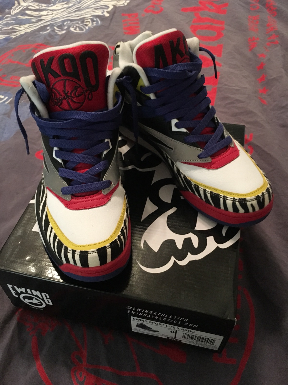 low priced 55f46 eed65 Ewing Athletics Ewing Sport Lite X Akoo Size 9 - Hi-Top Sneakers for Sale -  Grailed