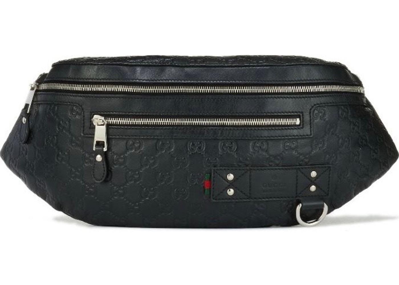 d8345833476e52 Gucci Gucci pouch waist bag Guccissima Black Size one size - Bags ...