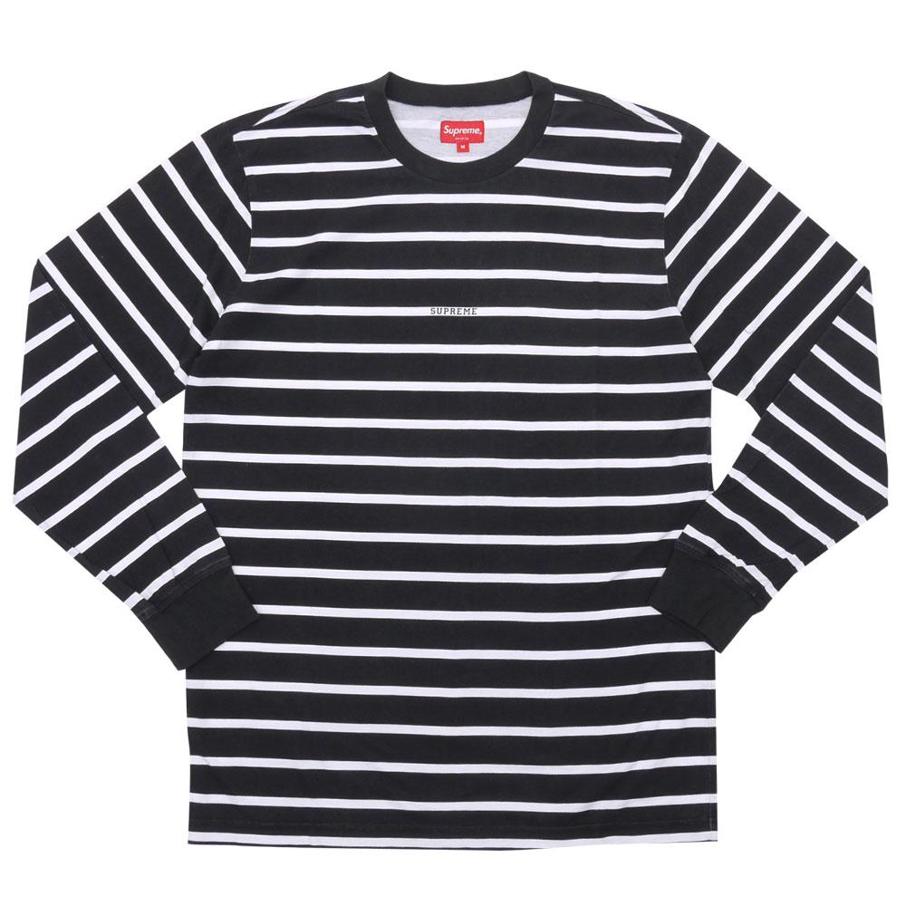 d11b6c436b Supreme Black Printed Stripe L/s Top   Grailed