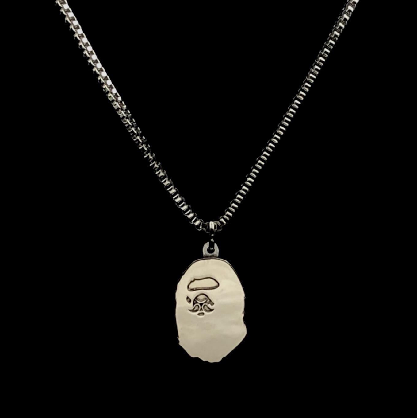 9c1abe24 Bape Mr. Bathing Ape Ape Head Pin Necklace | Grailed