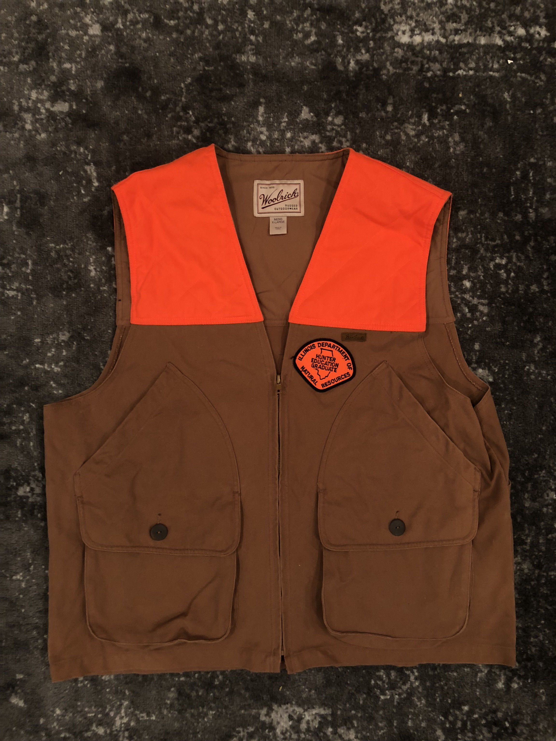 b388ab9aab62f Woolrich Woolen Mills ×. Woolrich Duck Canvas Upland Hunting Vest - Size XL  ...