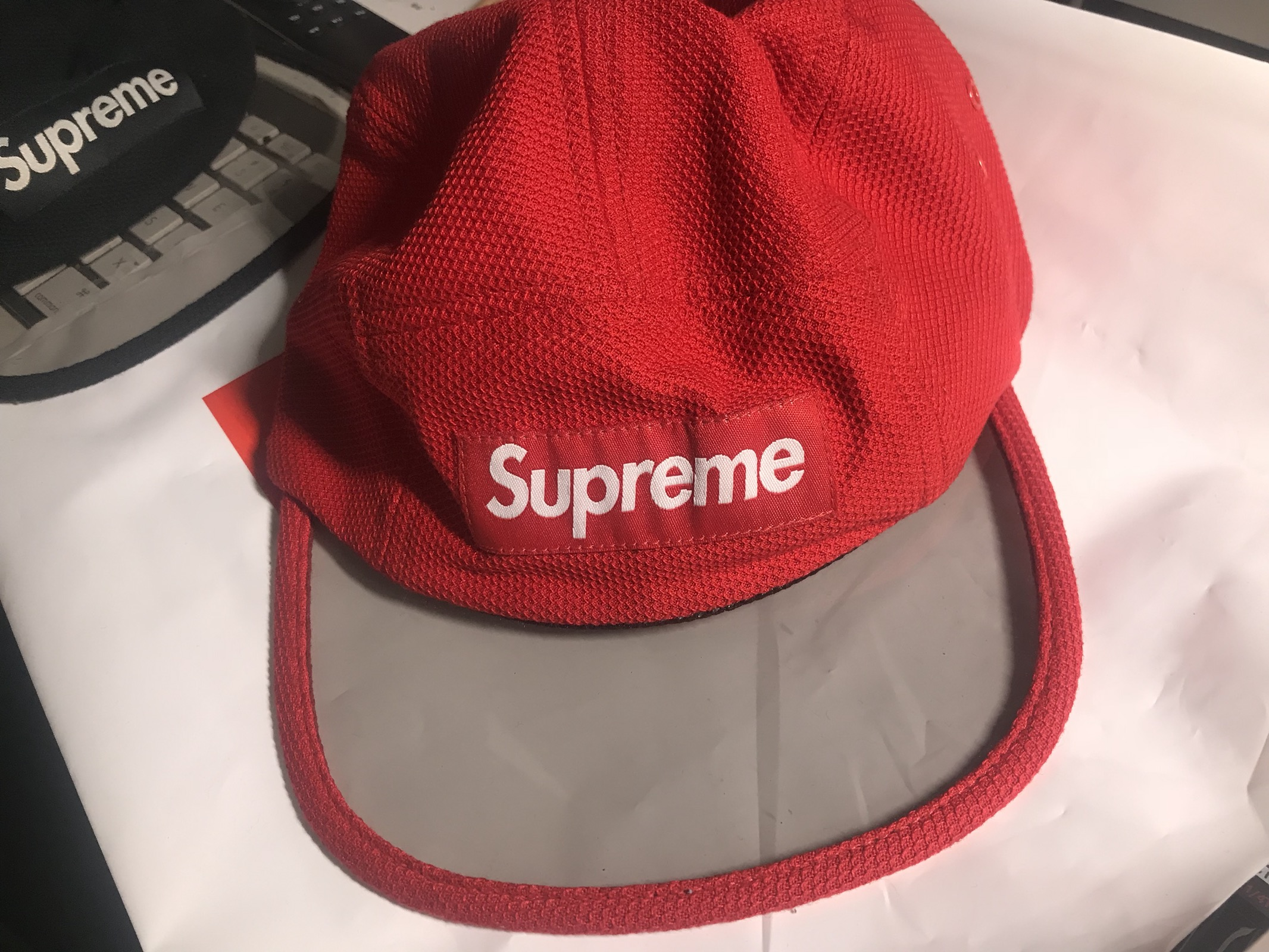 8cd14304006 Supreme SUPREME Pique Angler Camp Cap Red Size one size - Hats for Sale -  Grailed