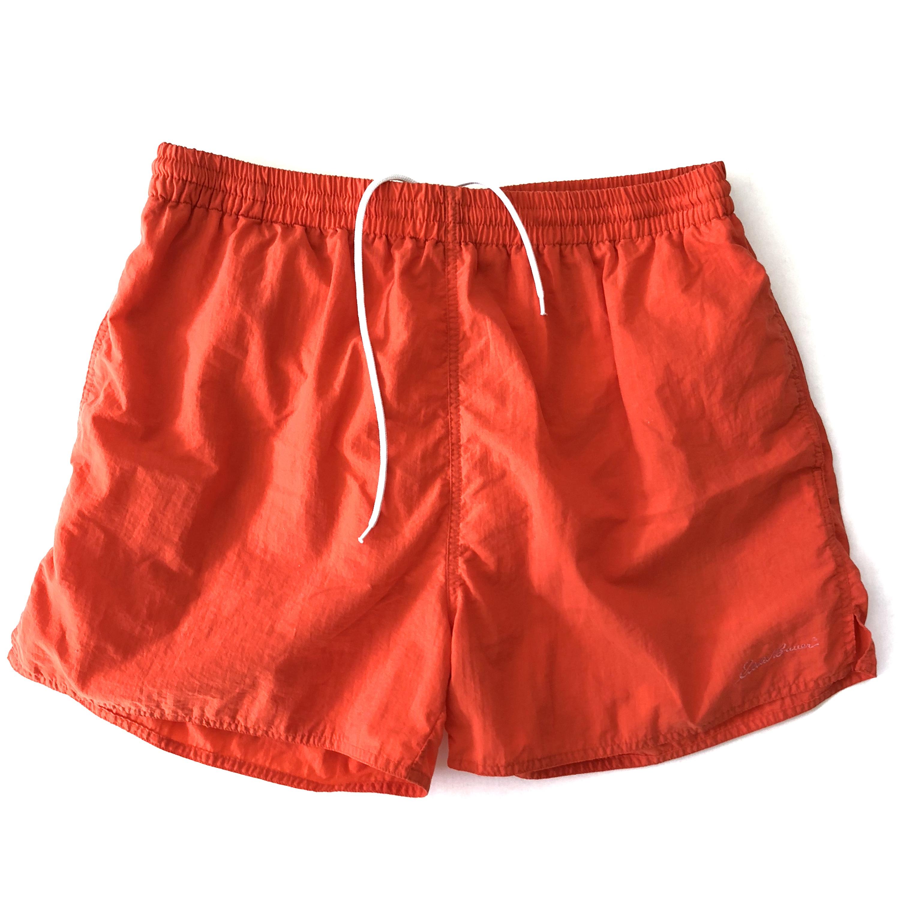 2741758845 Eddie Bauer Vintage Eddie Bauer Mens Retro Bright Orange Swim Trunks ...