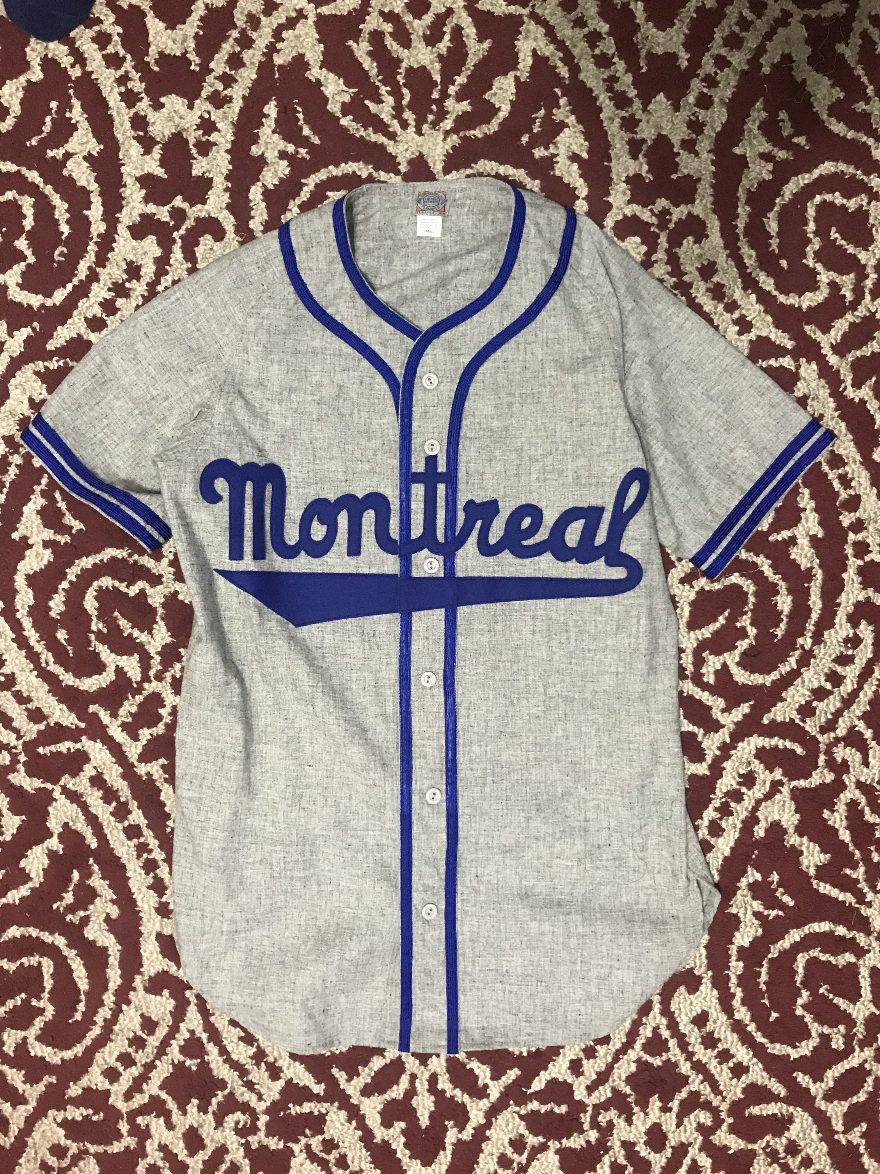 88f0a6d01 Ebbets Field Flannels Montreal Royals 1946 Road Jersey Size s ...