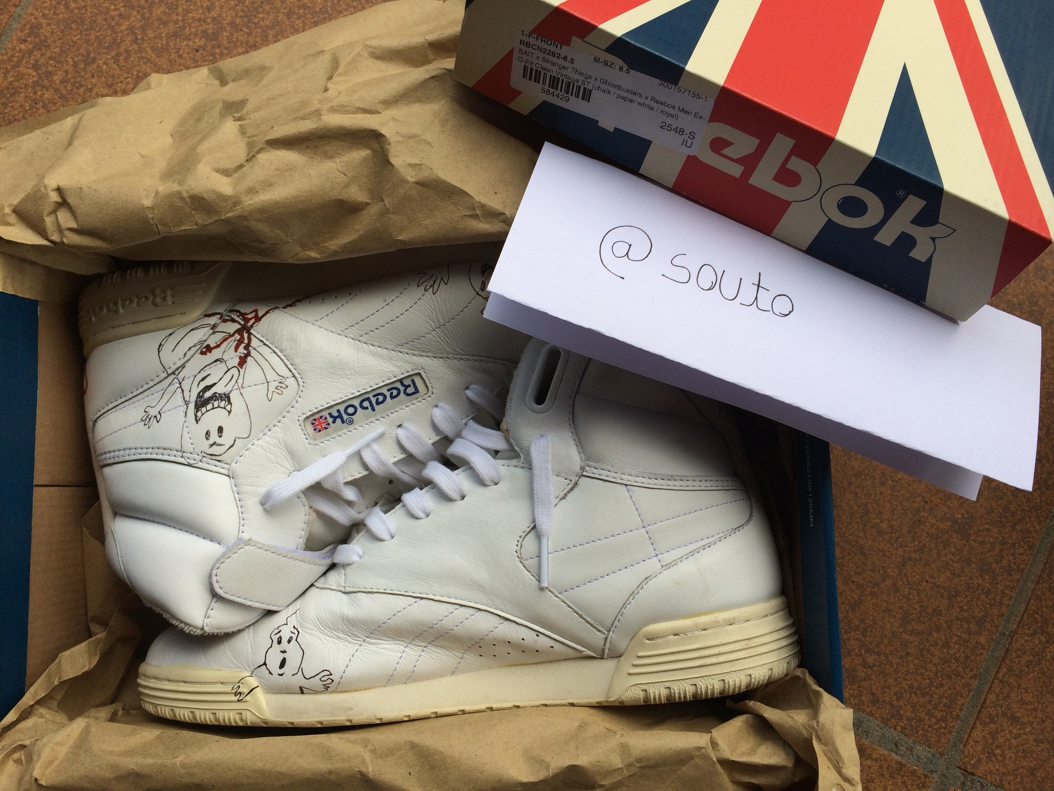 4c8a8257a4f Reebok BAIT x Ghostbusters x Stranger Things x Reebok Ex-O-Fit Clean Hi  Vintage Size 8.5 - Hi-Top Sneakers for Sale - Grailed