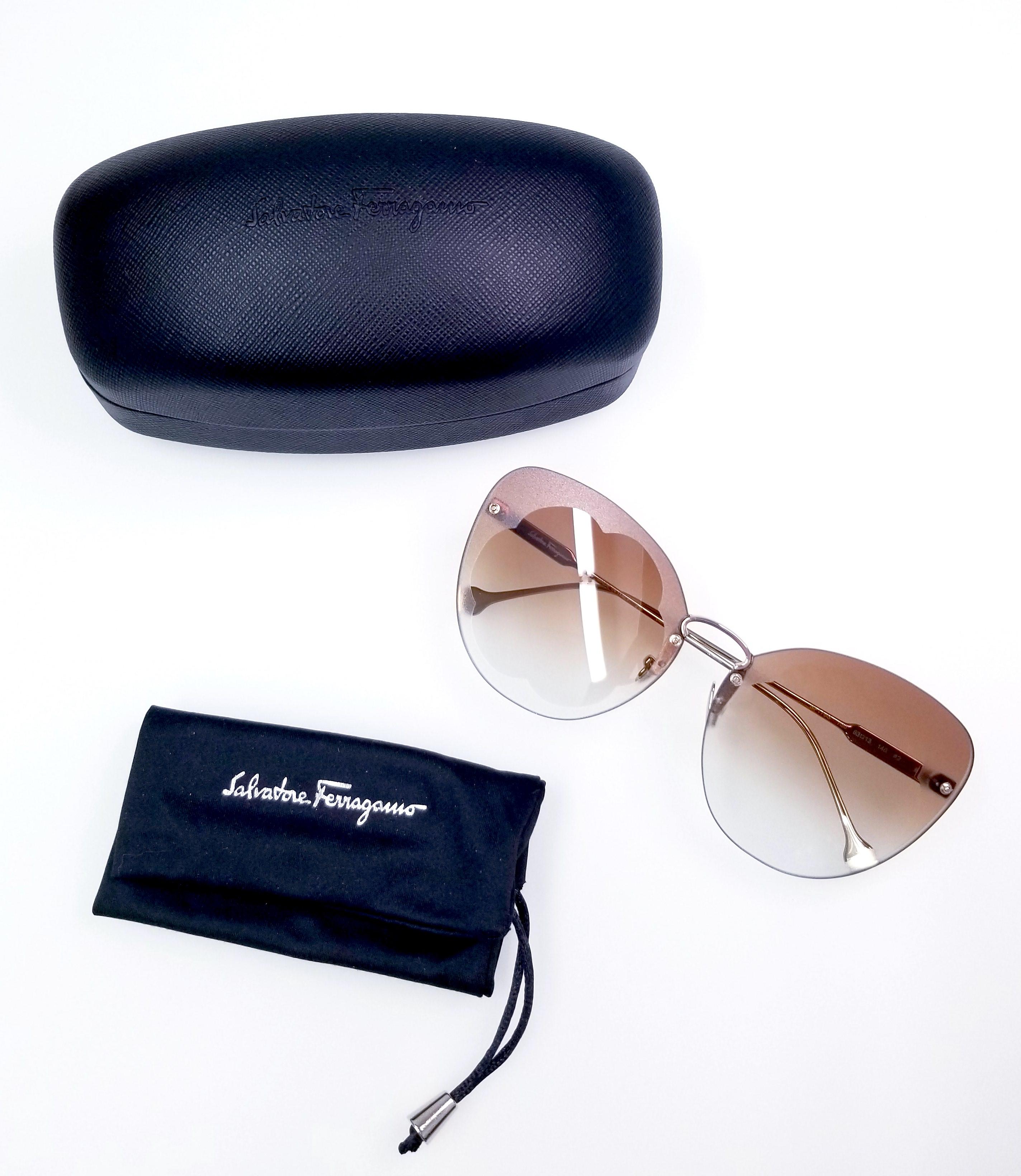 Salvatore Ferragamo New Sf178s Fiore 730 6313 Sunglasses Grailed