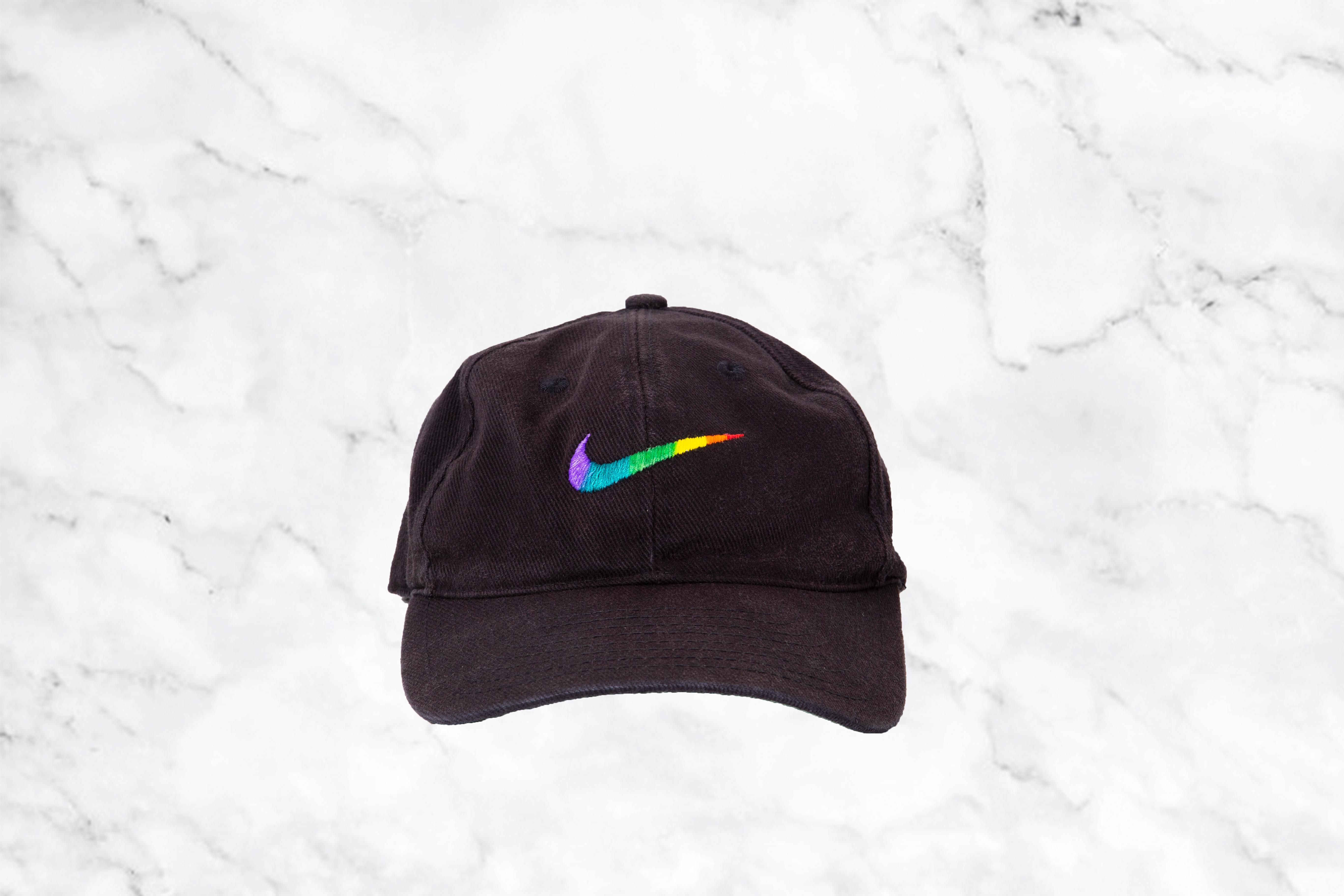 50b1a652ff Nike × Vintage ×. Vintage Nike 90 s rainbow hat