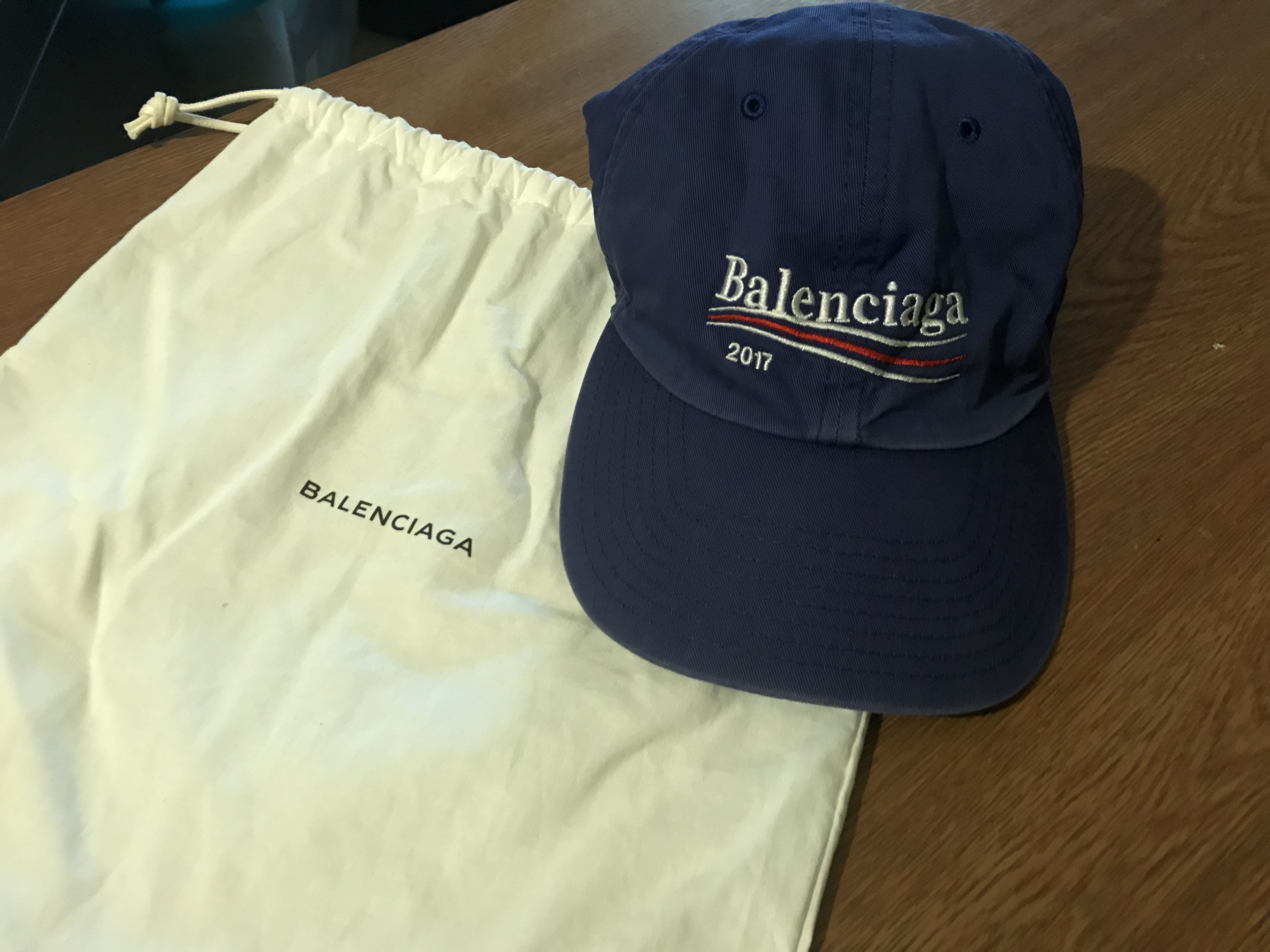 the best pretty nice various design Balenciaga 2017 Blue Campaign Hat