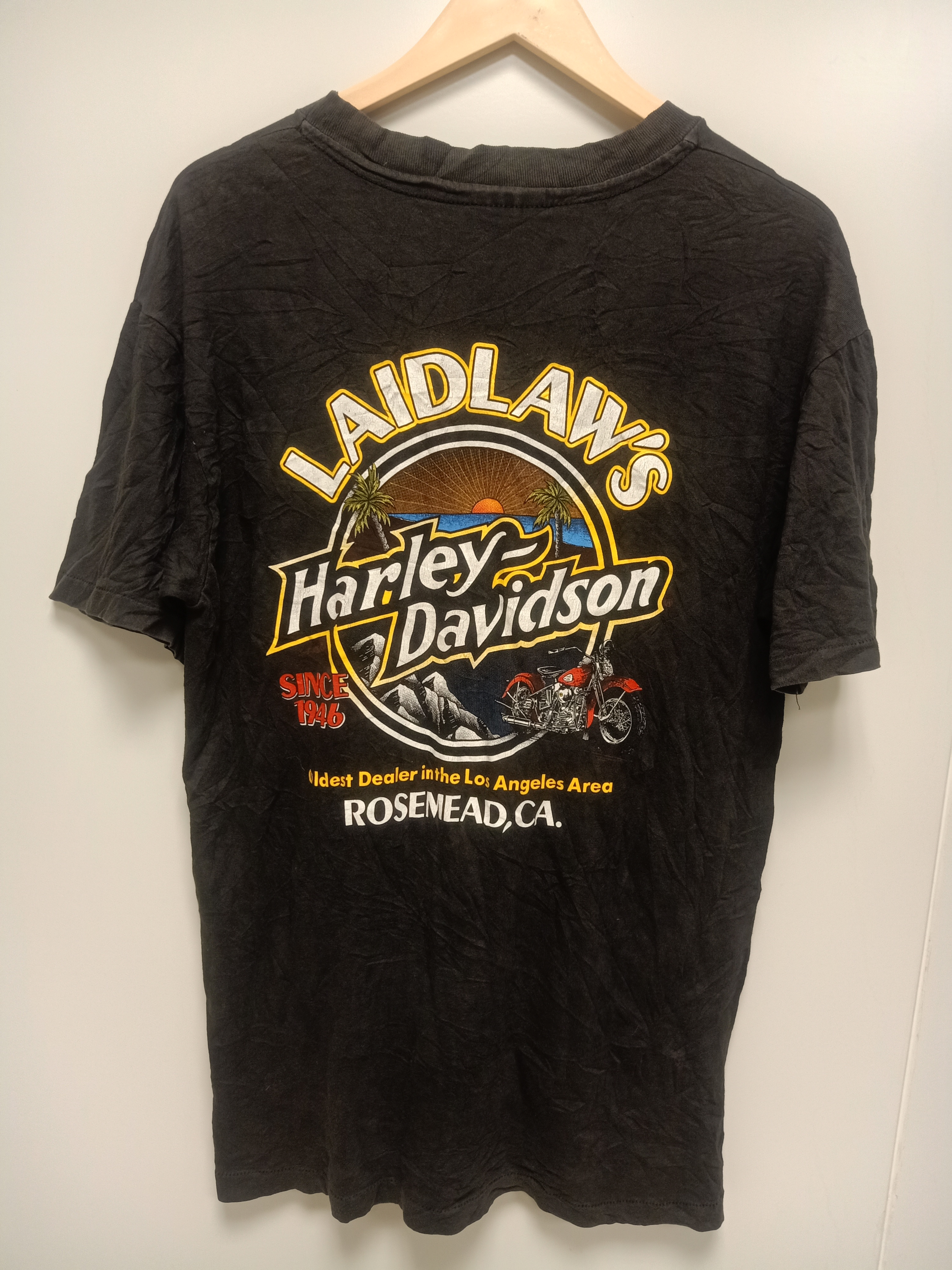 Vintage 90/'s Harley Davidson peacock feather t-shirt