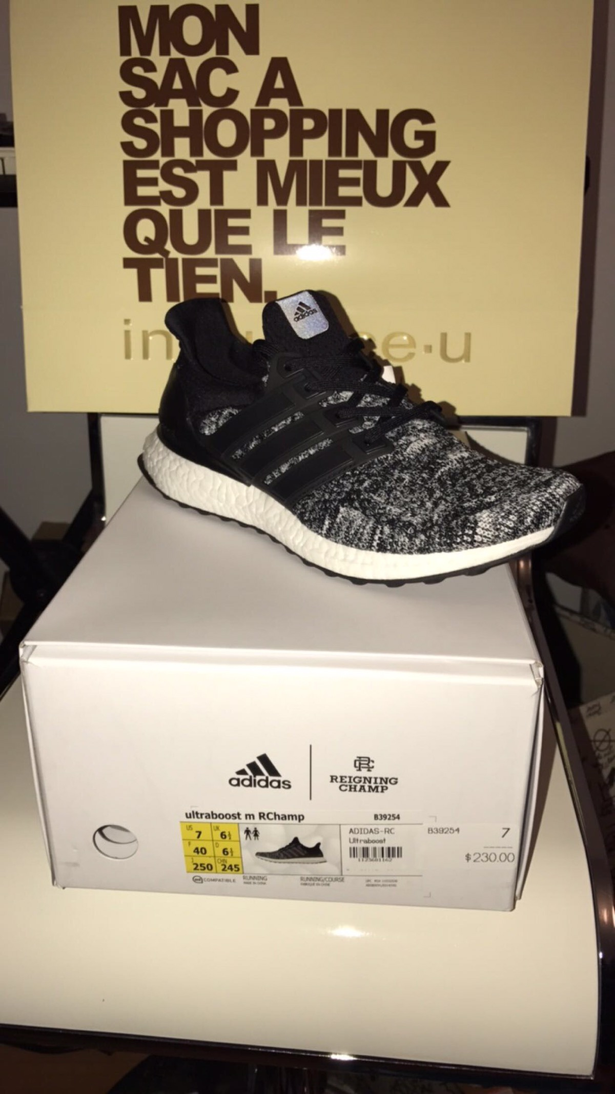 d633962a1f70f Adidas × Reigning Champ ×. Adidas X Reigning Champ Ultra Boost Size 7