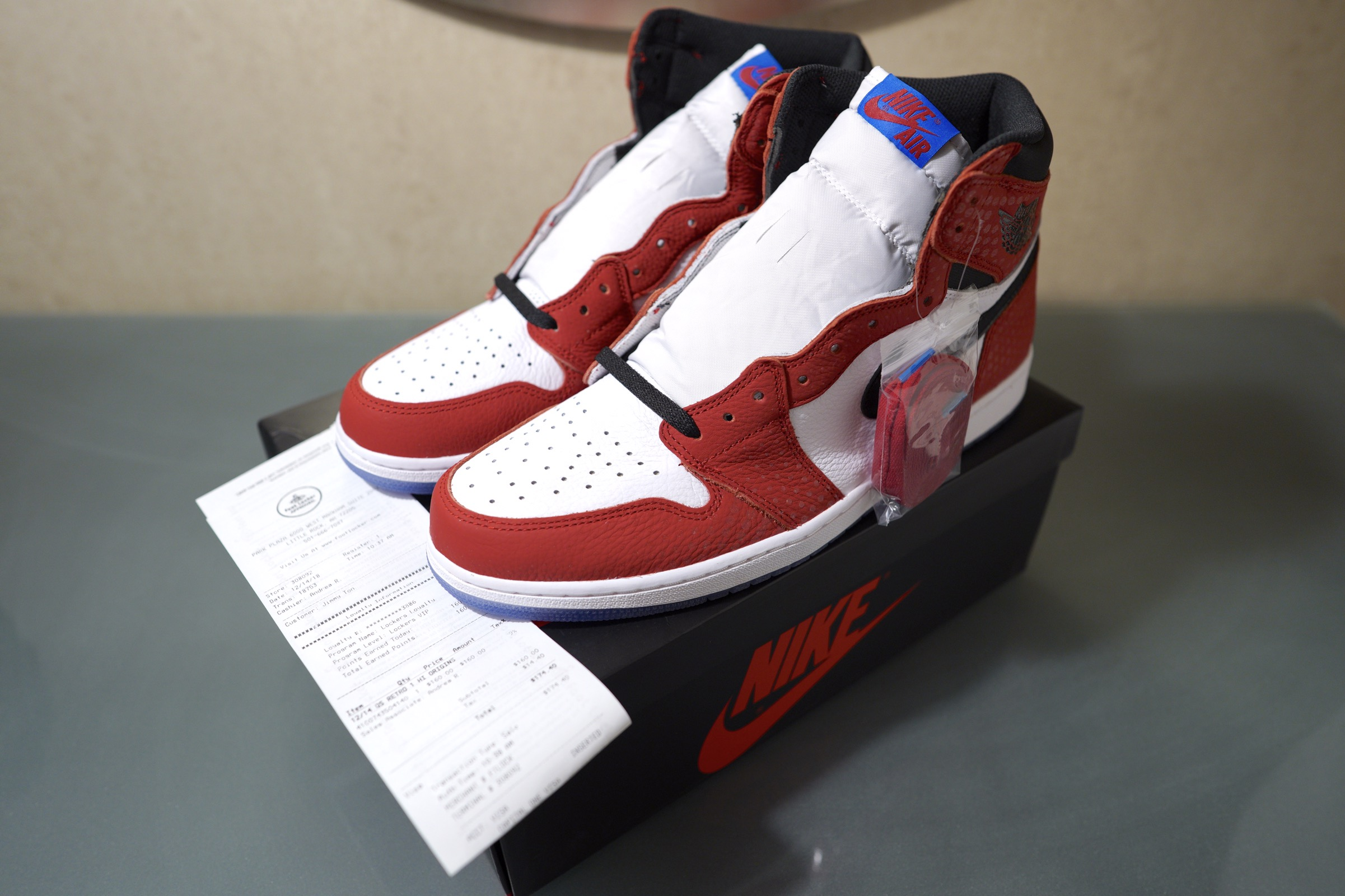 "newest collection 90d4c eae72 Nike Air Jordan 1 Retro Og ""origin Story"" Spider-man   Grailed"