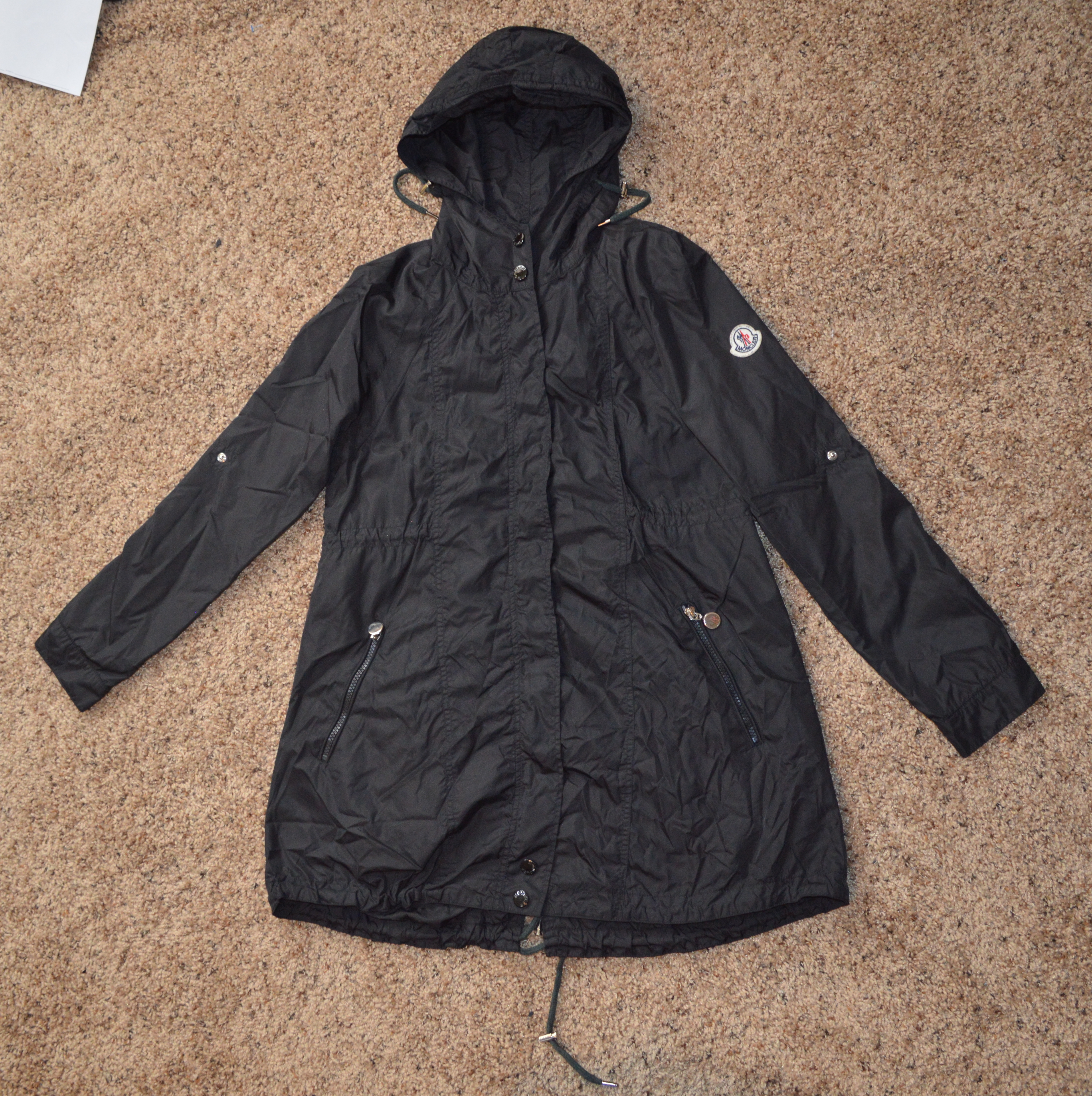 825bb97a6 Vintage Women's Moncler Maglione Tricot Gilet Fishtail Parka Adjustable  Sleeve Light Jacket