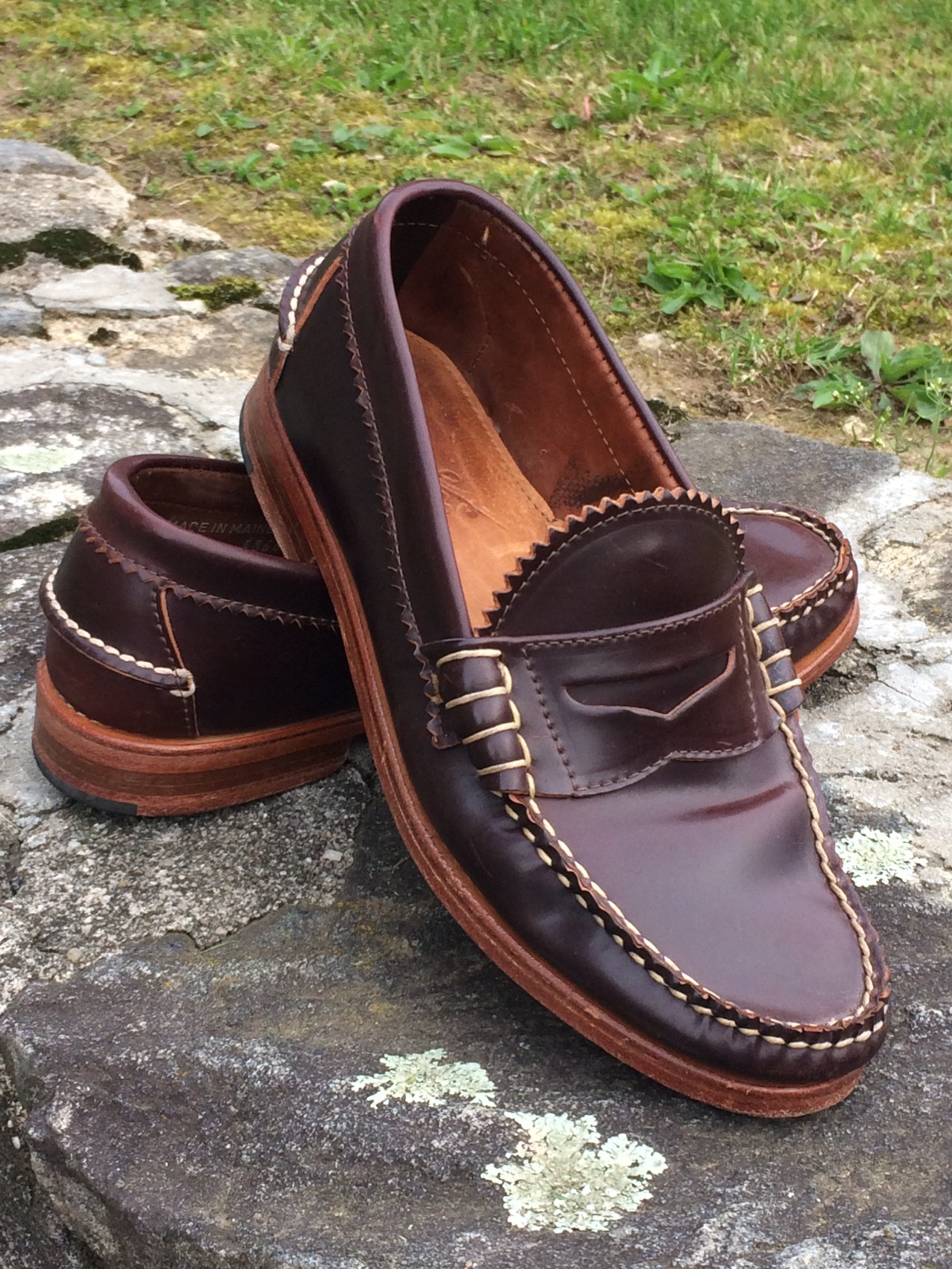 8667d5d0b97 Rancourt   Co. Shell Cordovan Pinch Penny Loafer Size 8 - Casual Leather  Shoes for Sale - Grailed