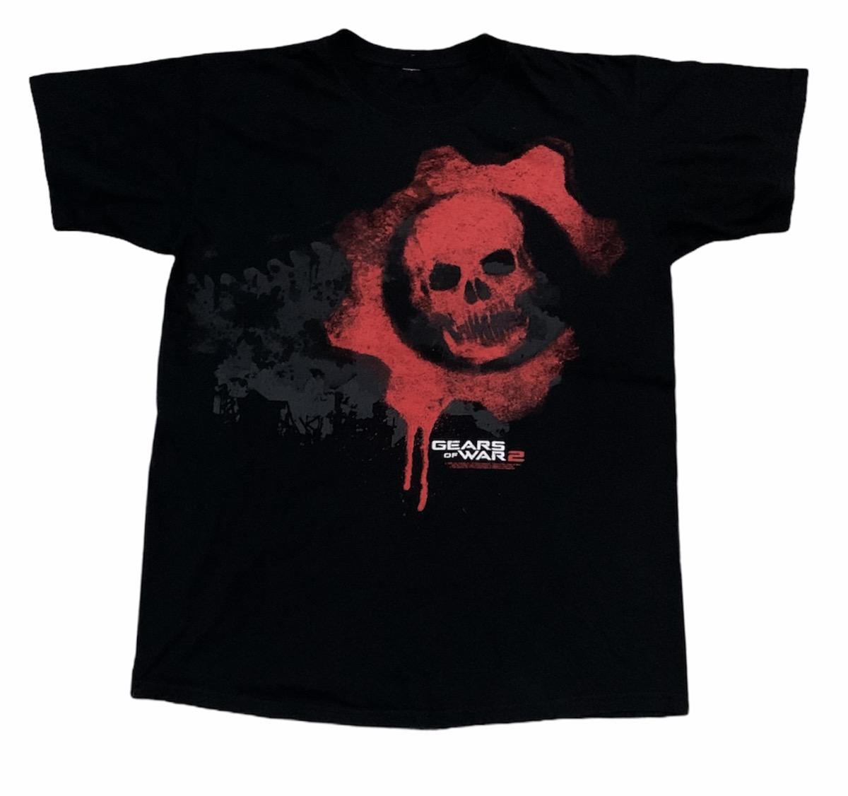 Rare Design Vintage Video Game Gears Of War 2 T-shirt 2000s