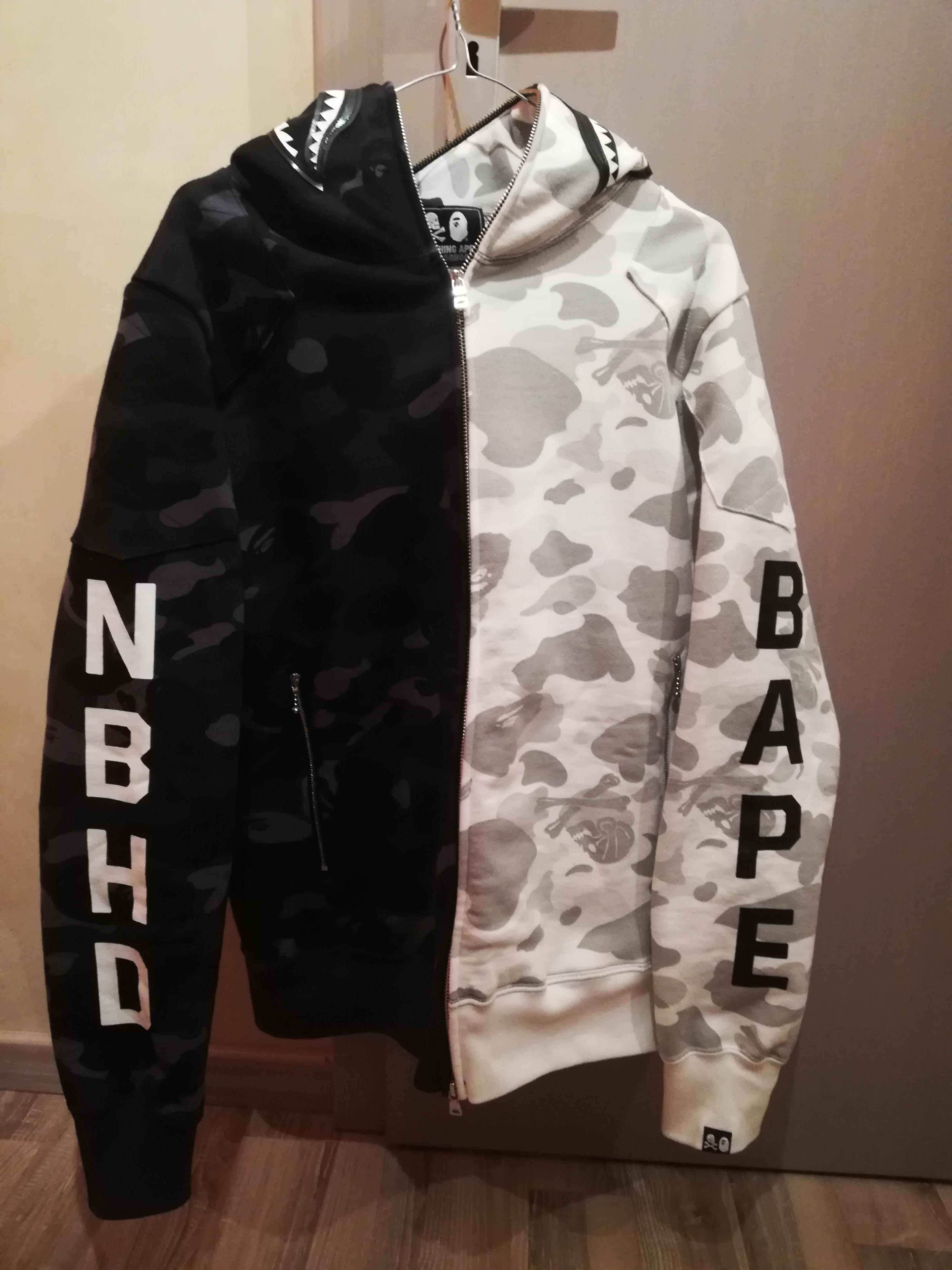 2f76eccf9ceb Bape A Bathing Ape (Bape) x Neighborhood camo shark full zip hoodie Size l  - Sweatshirts   Hoodies for Sale - Grailed